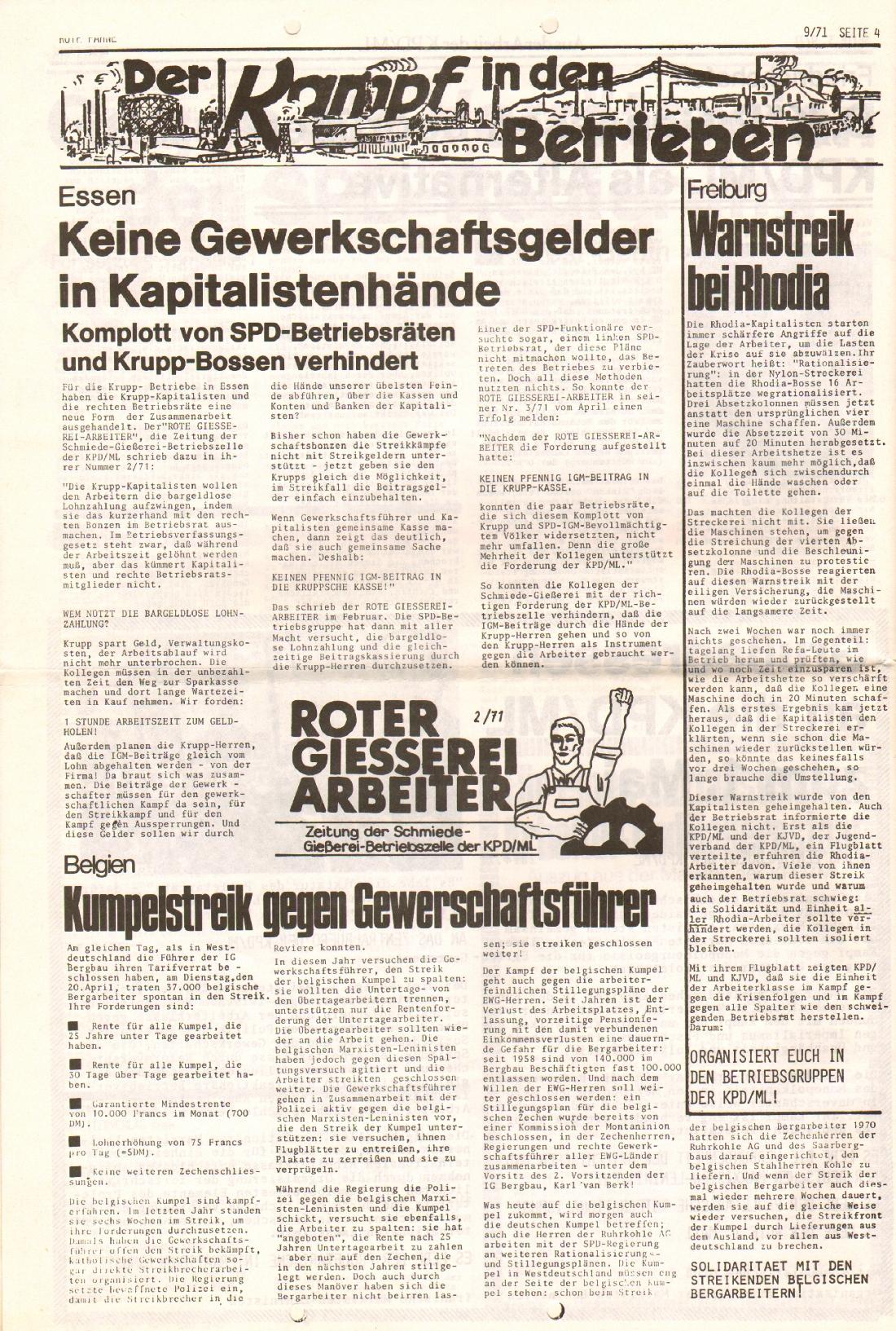 Rote Fahne, 2. Jg., 10.5.1971, Nr. 9, Seite 4