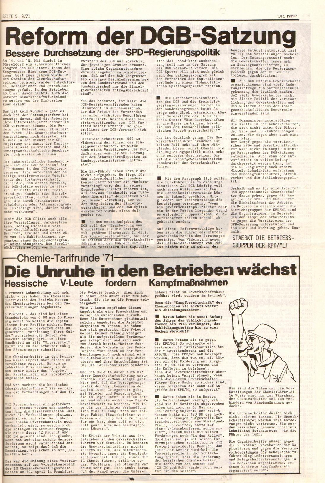 Rote Fahne, 2. Jg., 10.5.1971, Nr. 9, Seite 5