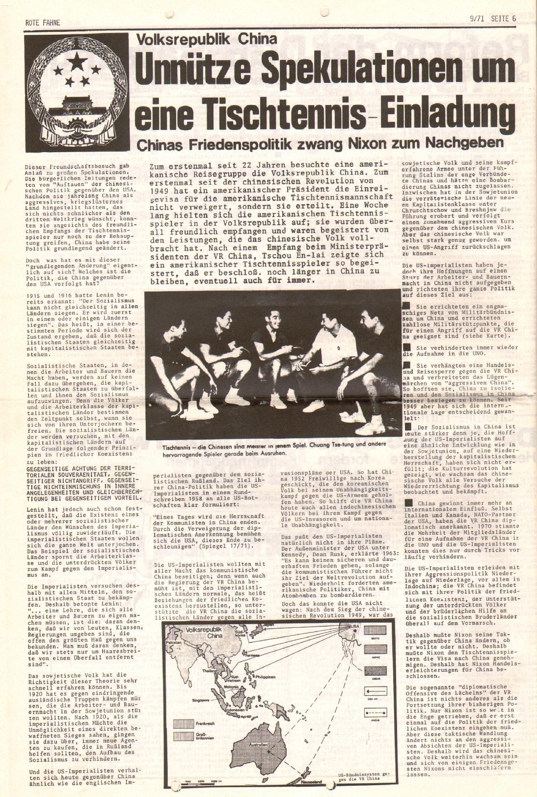 Rote Fahne, 2. Jg., 10.5.1971, Nr. 9, Seite 6