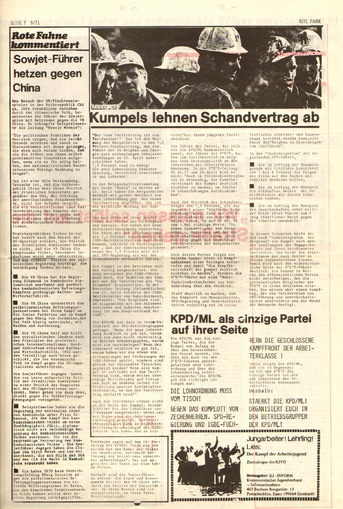 Rote Fahne, 2. Jg., 10.5.1971, Nr. 9, Seite 7