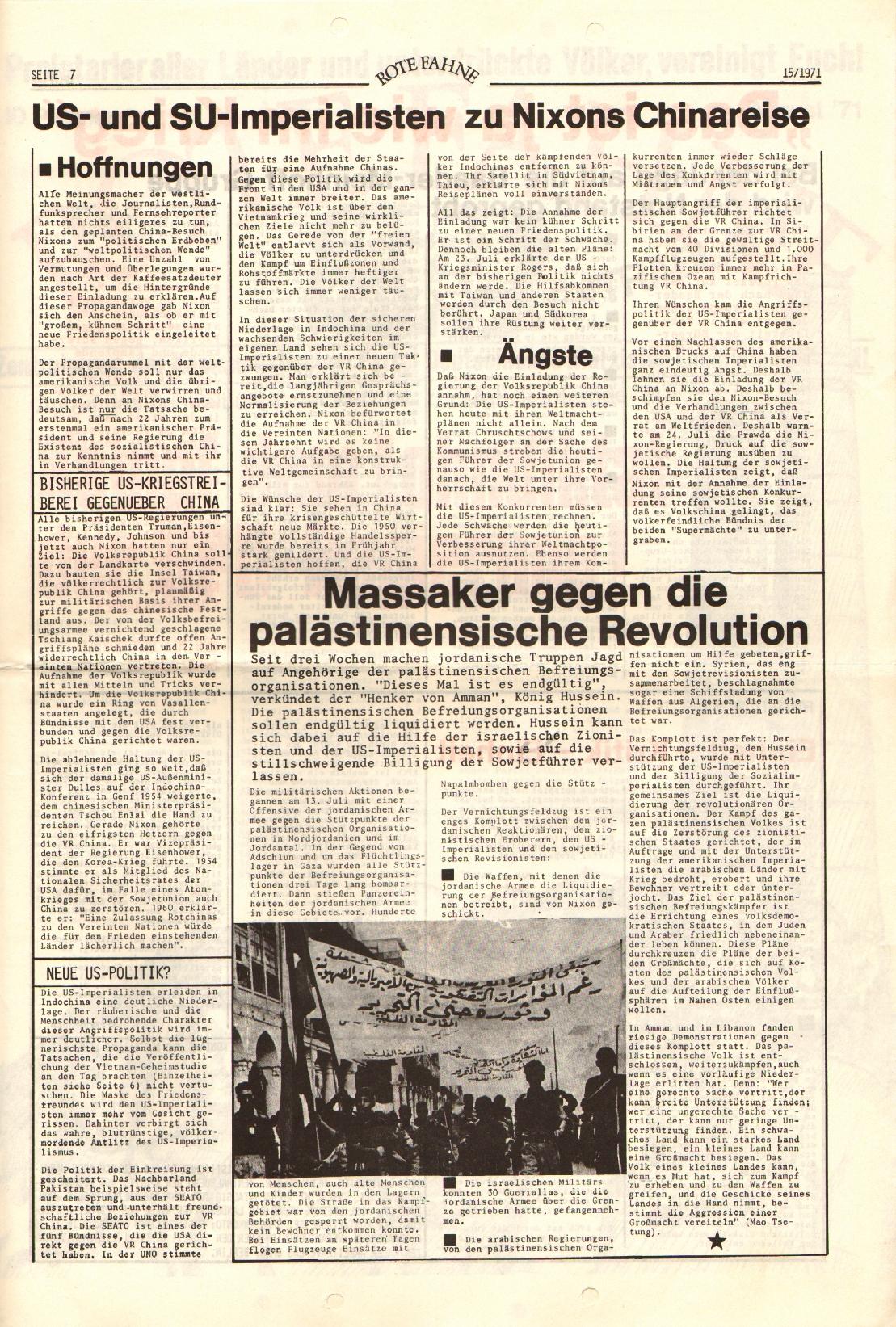 Rote Fahne, 2. Jg., 2.8.1971, Nr. 15, Seite 7