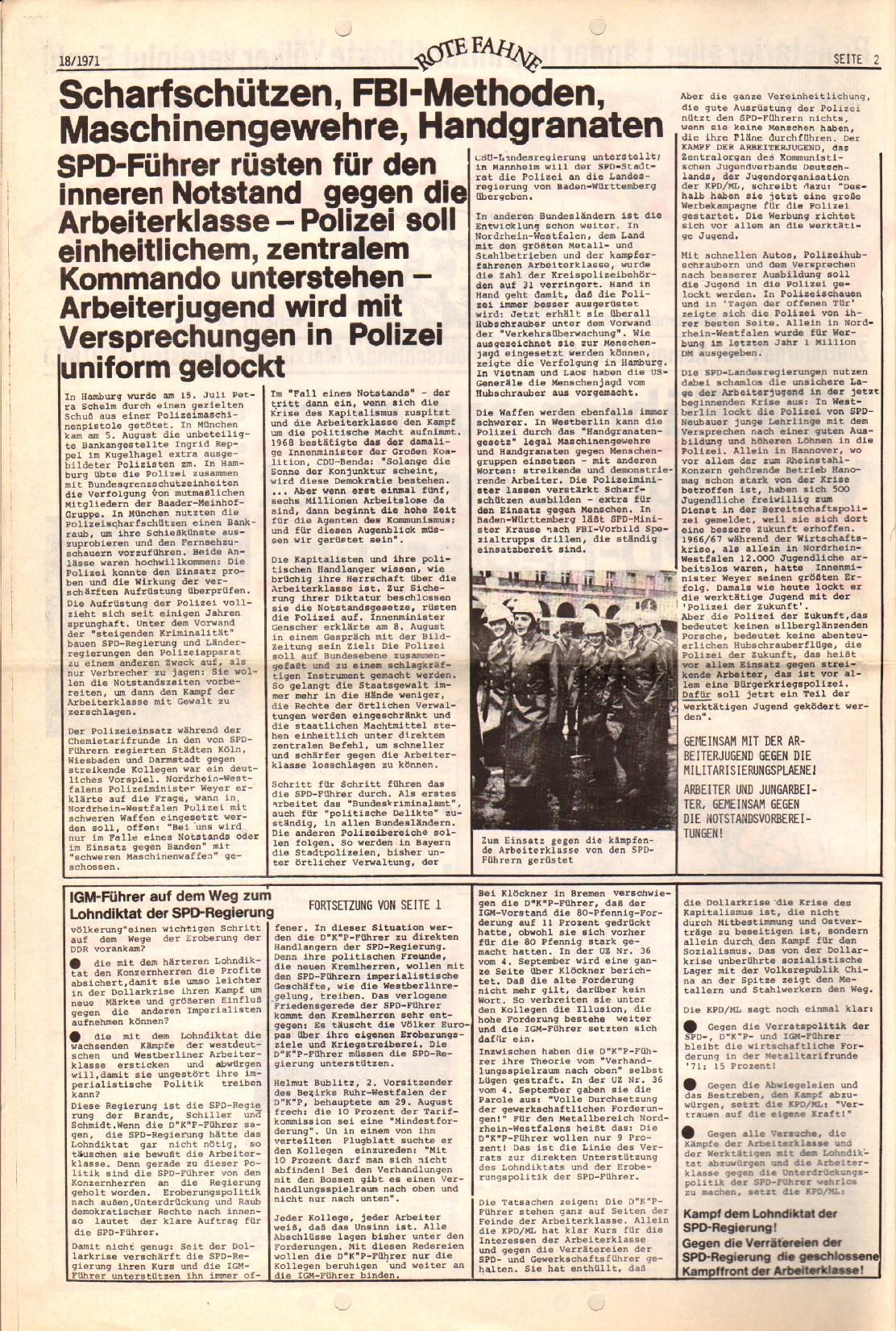 Rote Fahne, 2. Jg., 13.9.1971, Nr. 18, Seite 2