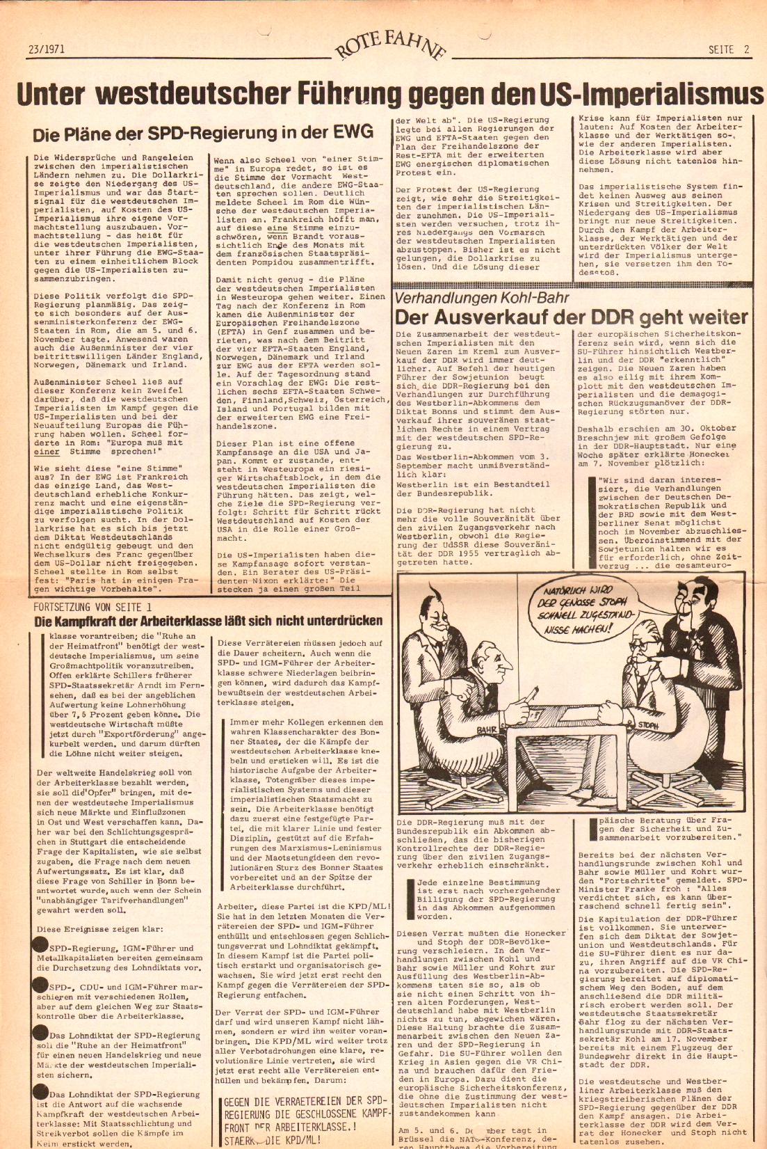 Rote Fahne, 2. Jg., 22.11.1971, Nr. 23, Seite 2
