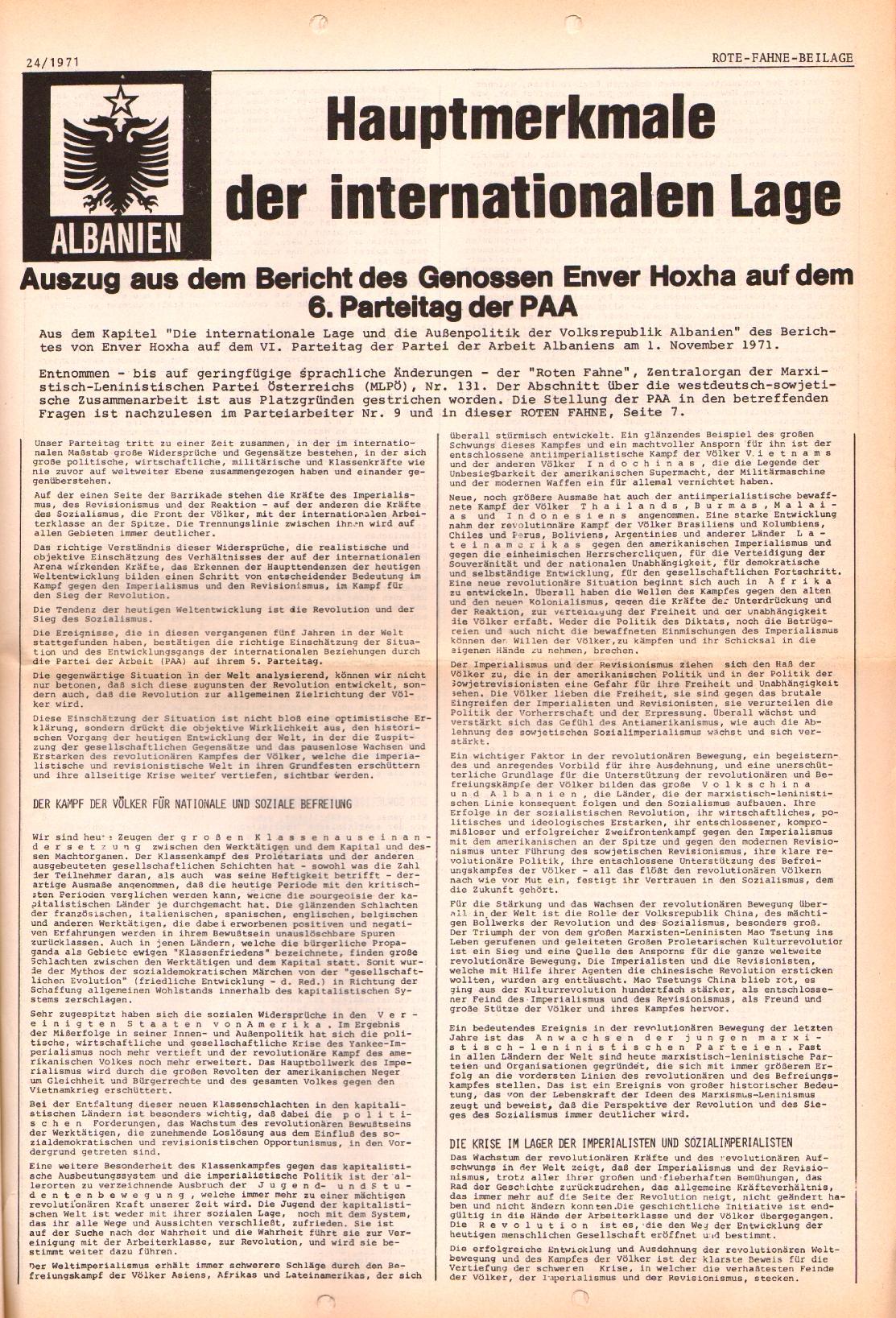 Rote Fahne, 2. Jg., 6.12.1971, Nr. 24, Seite 5
