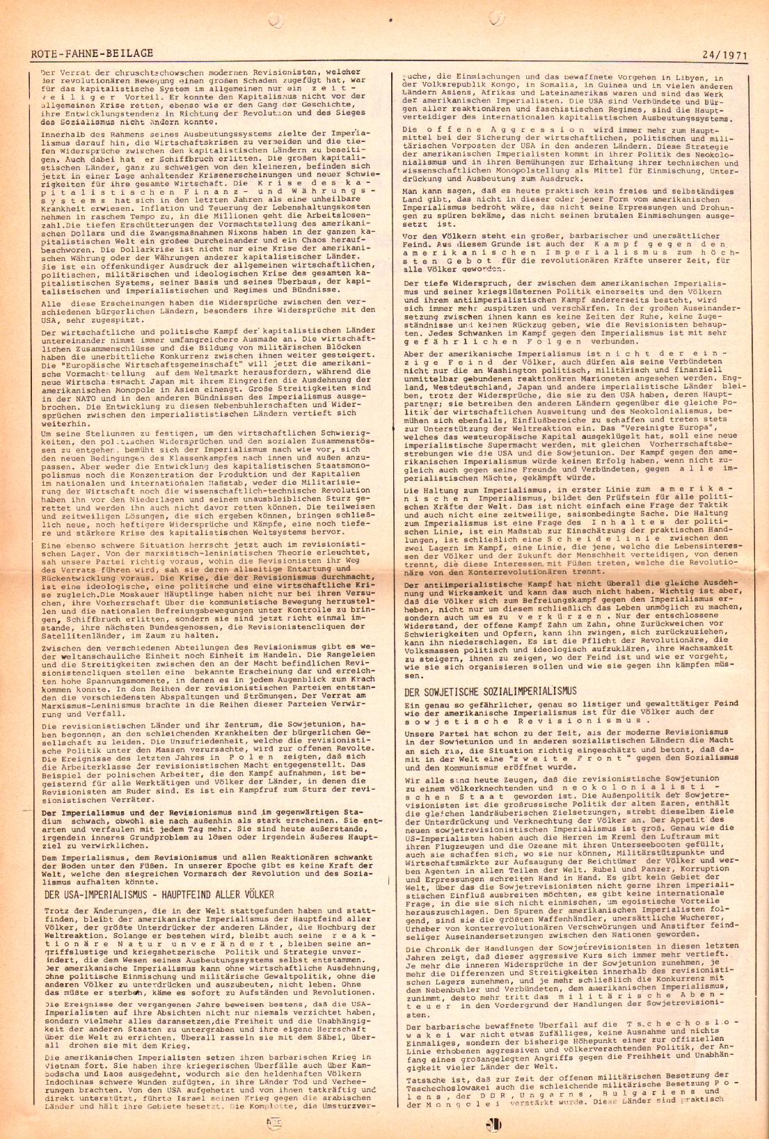 Rote Fahne, 2. Jg., 6.12.1971, Nr. 24, Seite 6