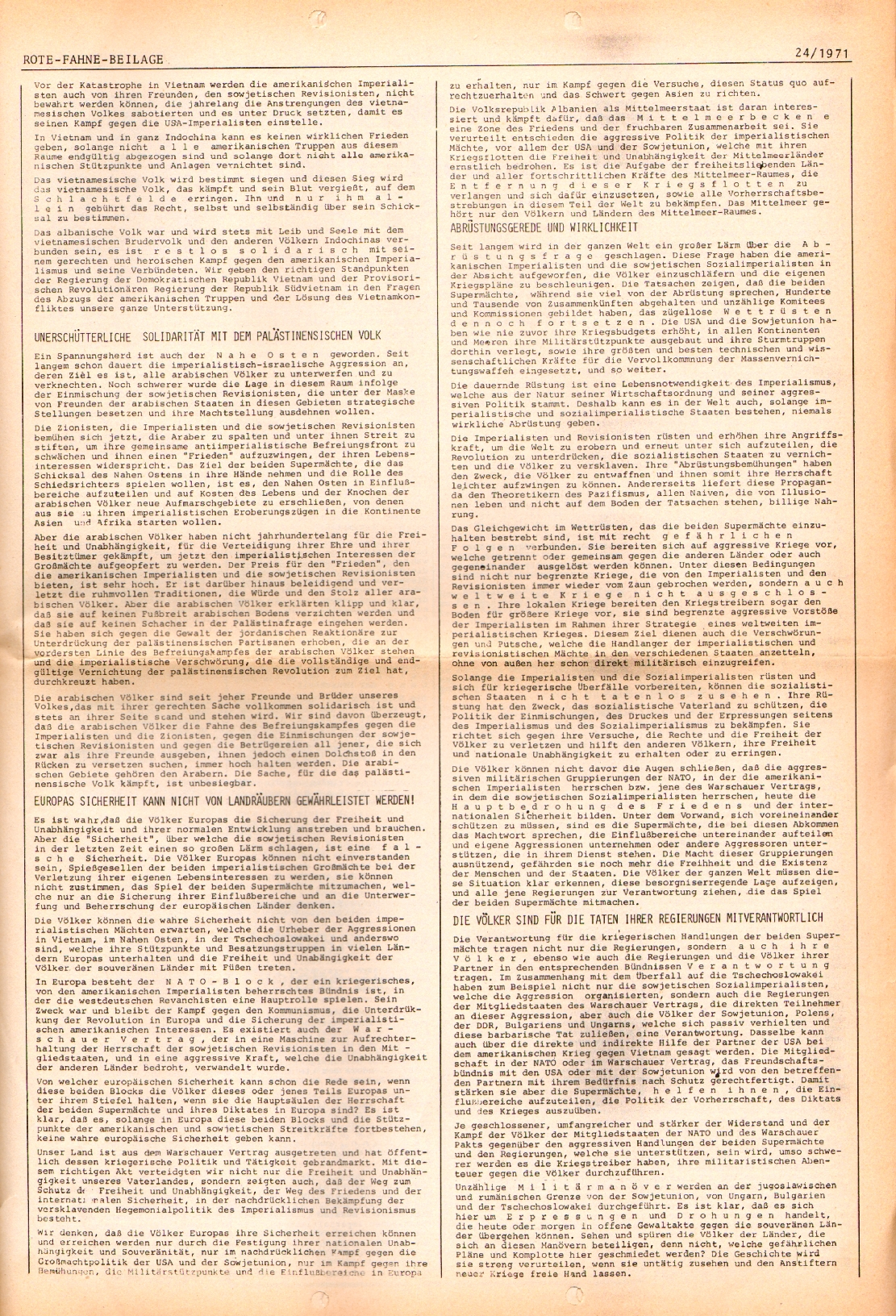 Rote Fahne, 2. Jg., 6.12.1971, Nr. 24, Seite 7