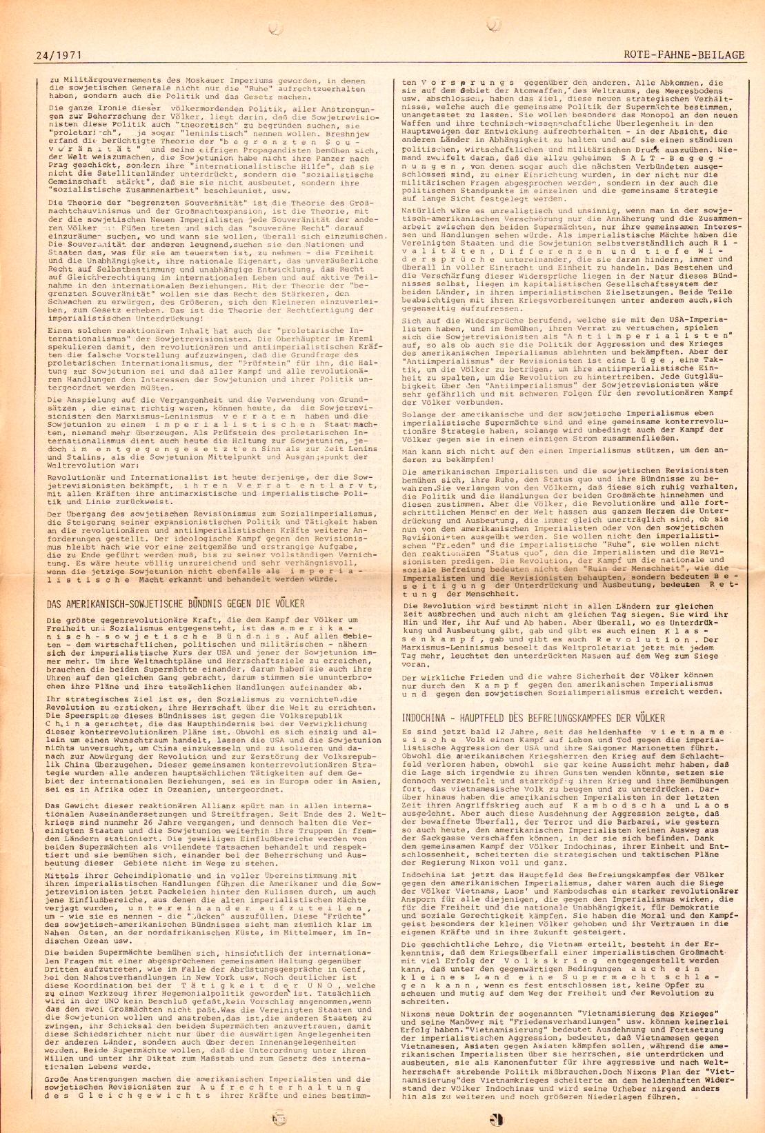 Rote Fahne, 2. Jg., 6.12.1971, Nr. 24, Seite 8