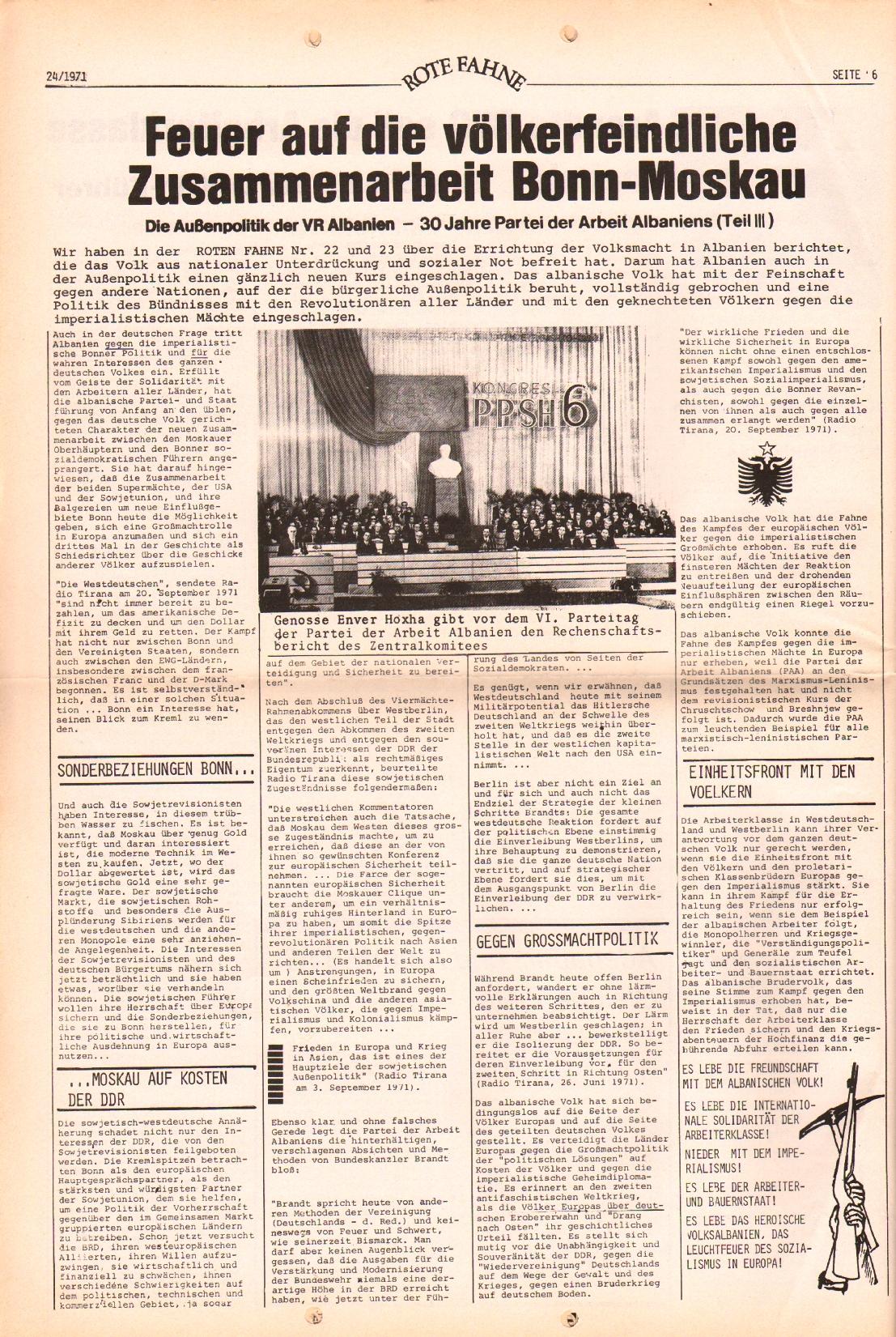 Rote Fahne, 2. Jg., 6.12.1971, Nr. 24, Seite 10