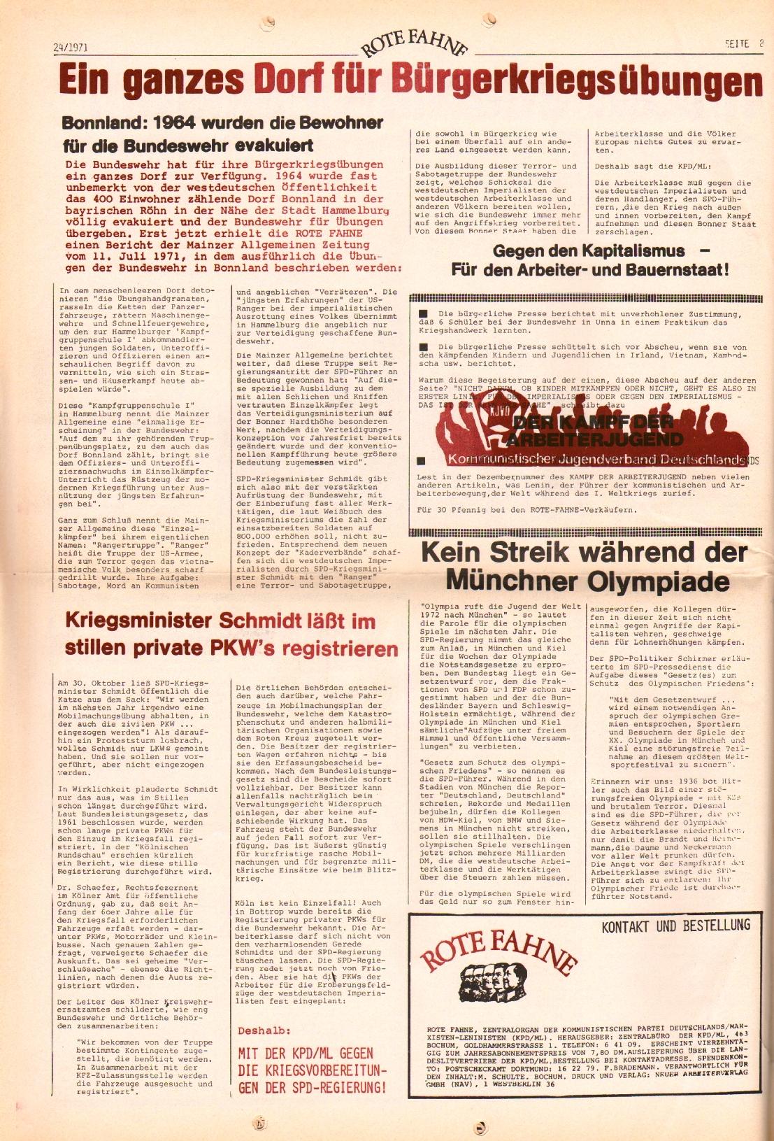 Rote Fahne, 2. Jg., 6.12.1971, Nr. 24, Seite 12