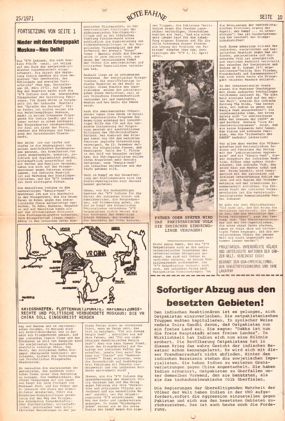 Rote Fahne, 2. Jg., 20.12.1971, Nr. 25, Seite 10