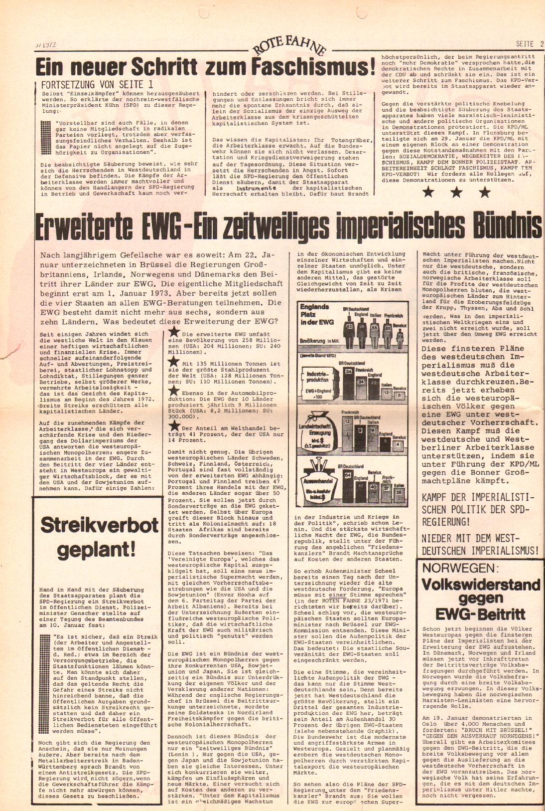 Rote Fahne, 3. Jg., 7.2.1972, Nr. 3, Seite 2