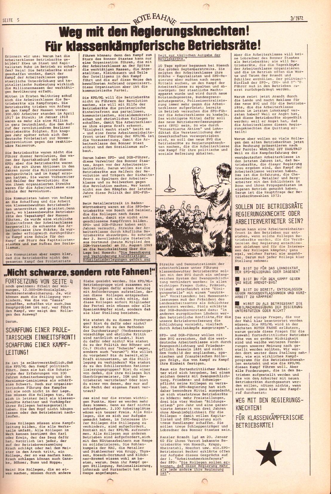 Rote Fahne, 3. Jg., 7.2.1972, Nr. 3, Seite 5