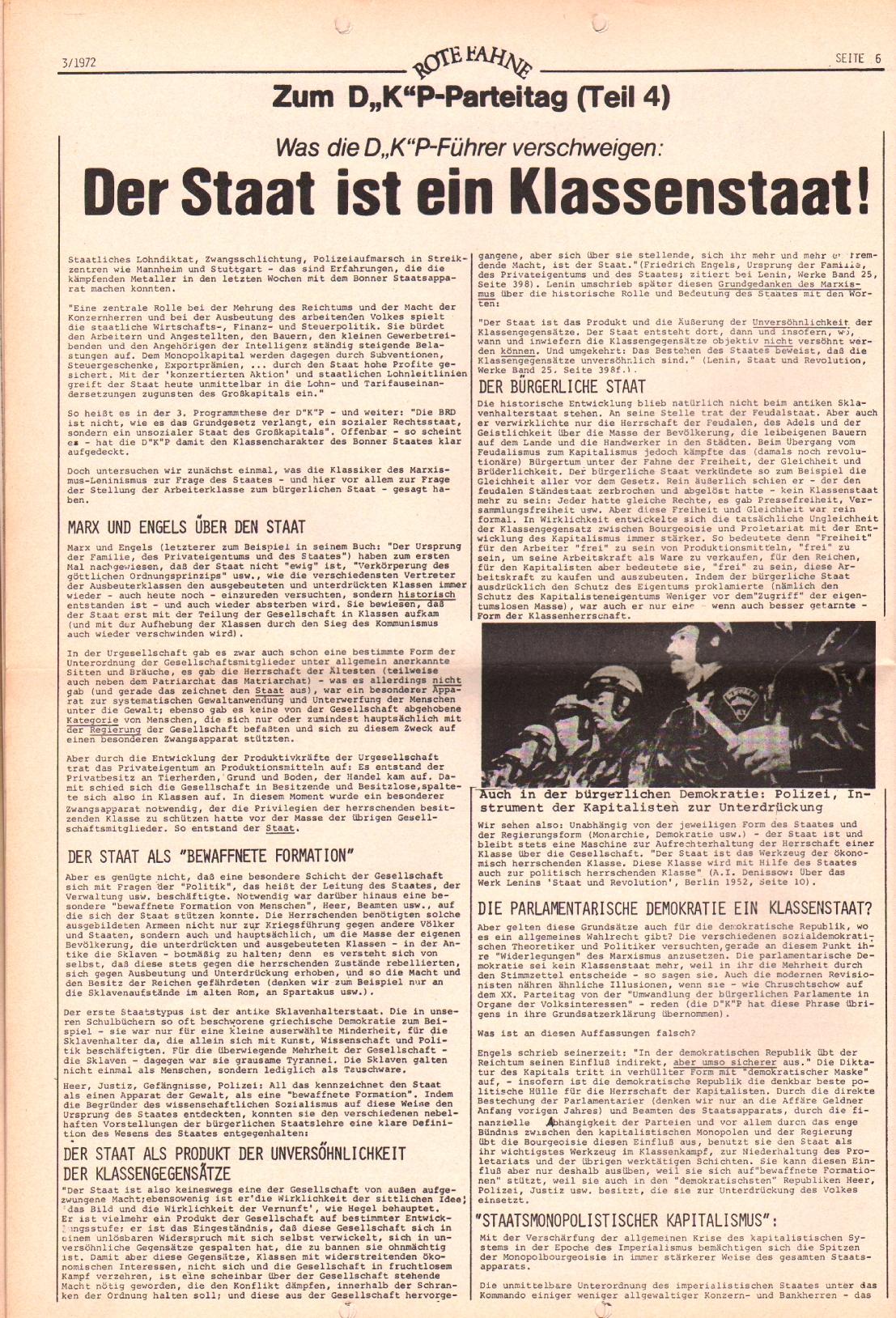 Rote Fahne, 3. Jg., 7.2.1972, Nr. 3, Seite 6