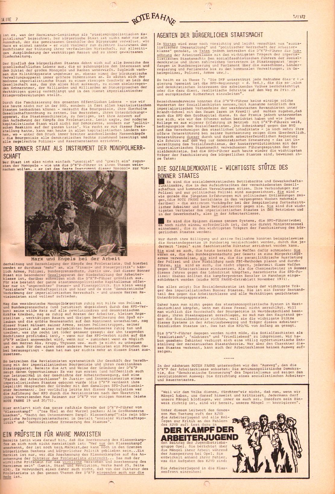 Rote Fahne, 3. Jg., 7.2.1972, Nr. 3, Seite 7