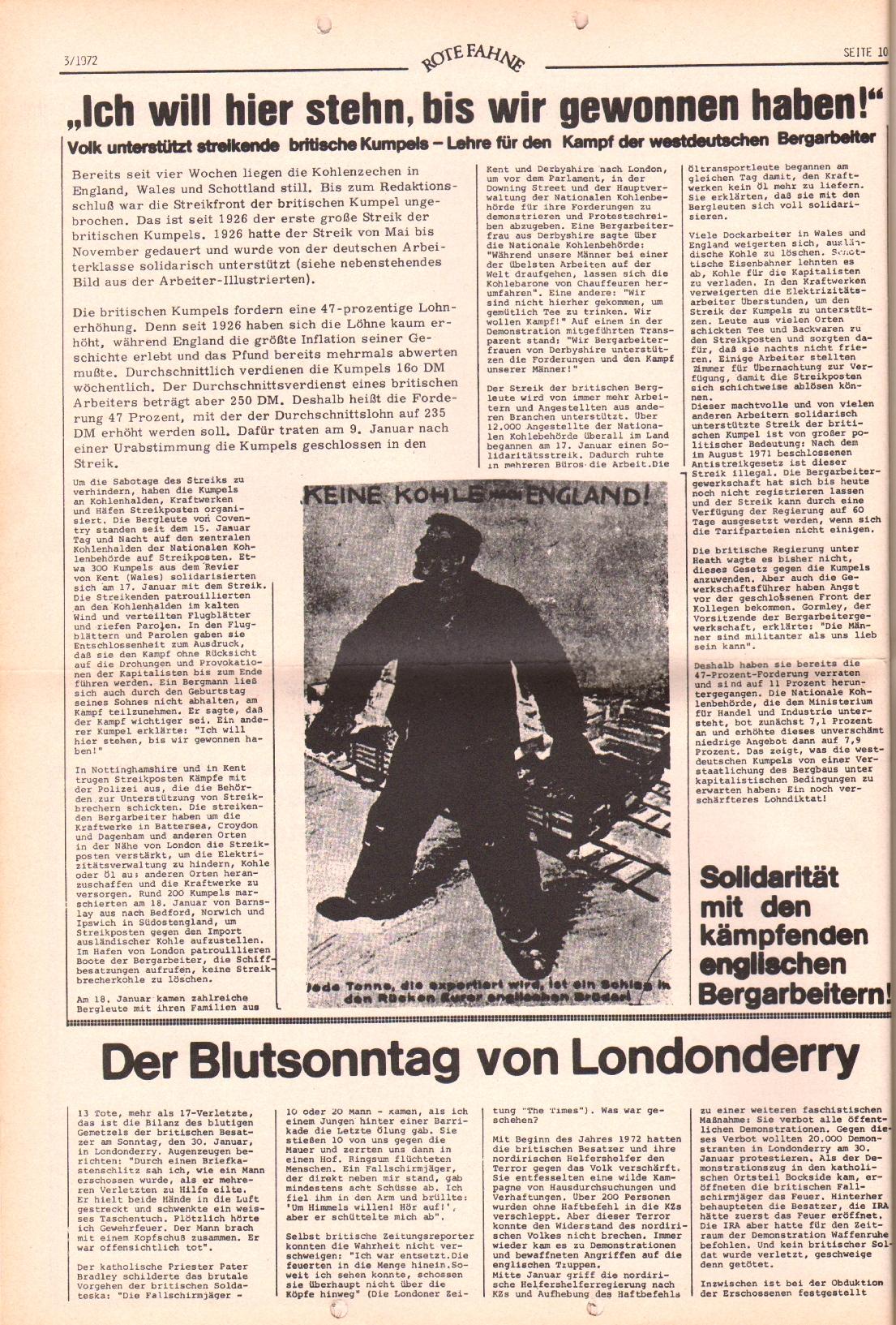 Rote Fahne, 3. Jg., 7.2.1972, Nr. 3, Seite 10