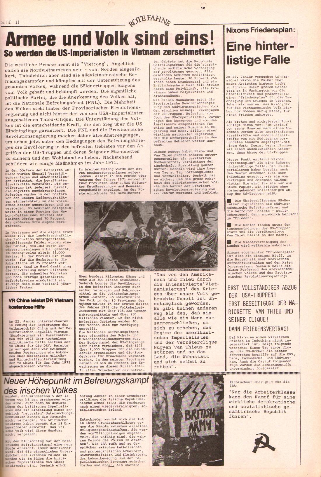 Rote Fahne, 3. Jg., 7.2.1972, Nr. 3, Seite 11