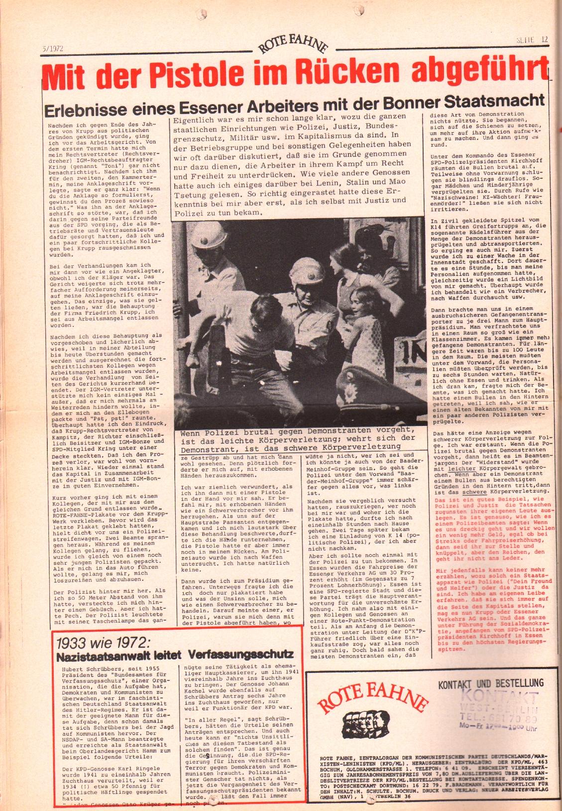 Rote Fahne, 3. Jg., 7.2.1972, Nr. 3, Seite 12