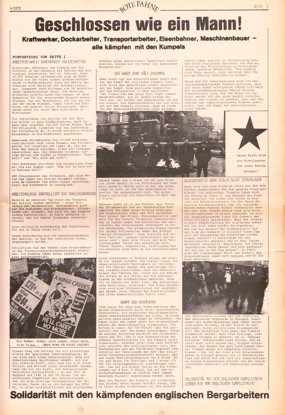 Rote Fahne, 3. Jg., 21.2.1972, Nr. 4, Seite 3