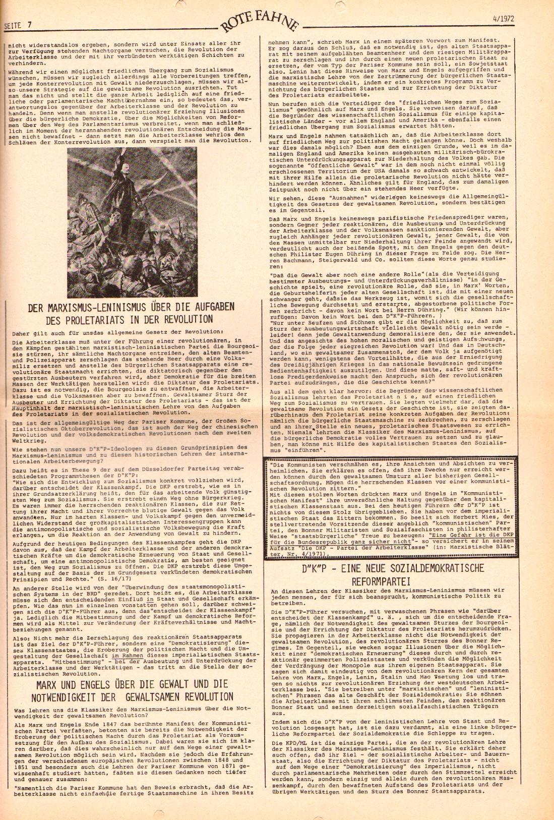 Rote Fahne, 3. Jg., 21.2.1972, Nr. 4, Seite 7