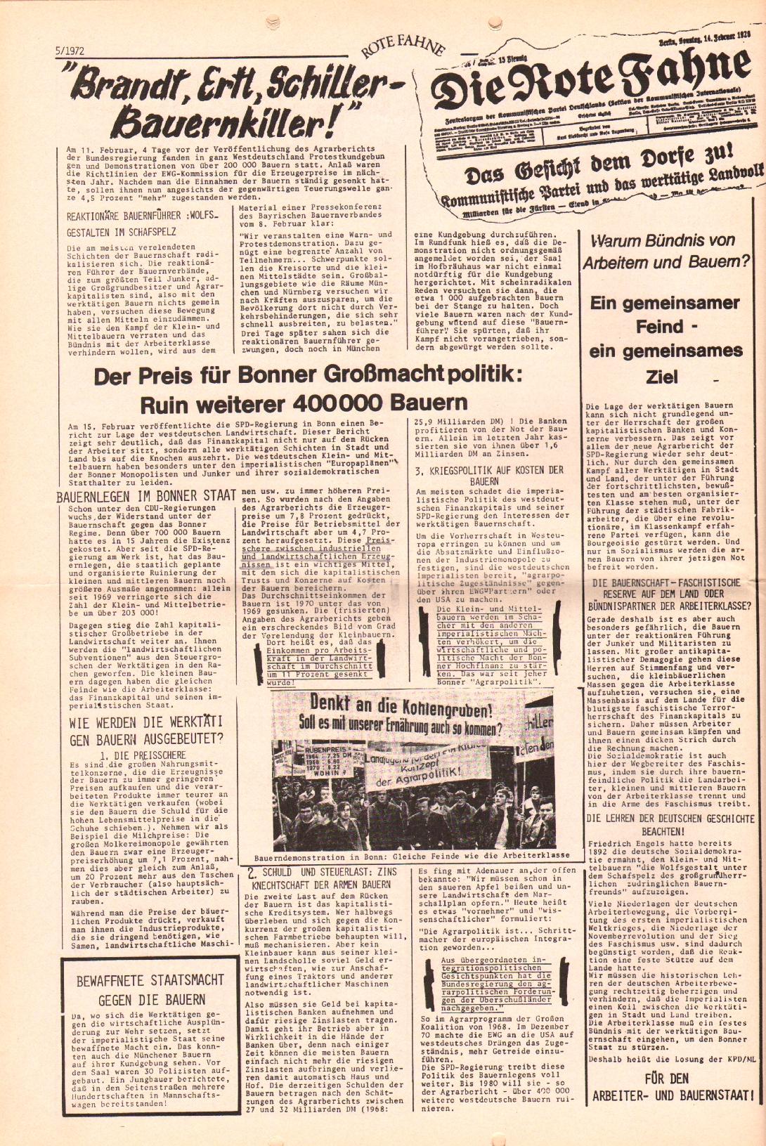 Rote Fahne, 3. Jg., 6.3.1972, Nr. 5, Seite 10