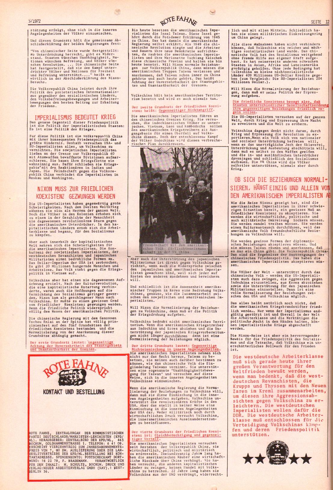 Rote Fahne, 3. Jg., 6.3.1972, Nr. 5, Seite 12