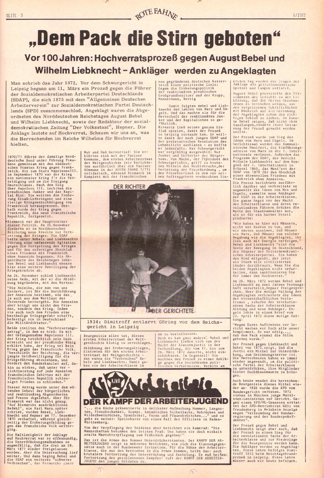 Rote Fahne, 3. Jg., 20.3.1972, Nr. 6, Seite 3