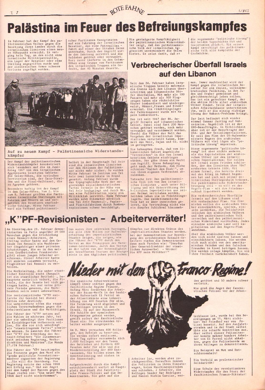 Rote Fahne, 3. Jg., 20.3.1972, Nr. 6, Seite 7