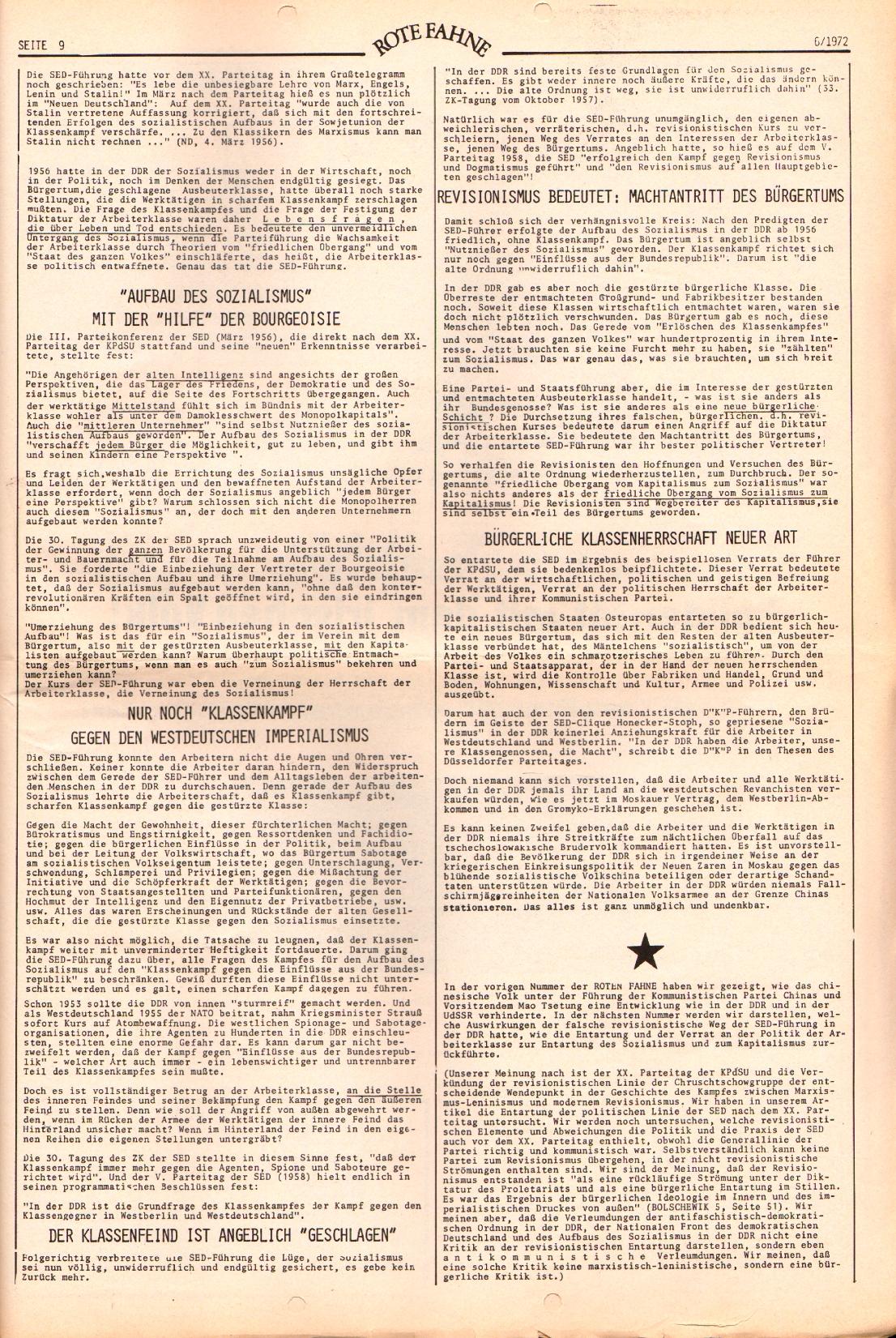 Rote Fahne, 3. Jg., 20.3.1972, Nr. 6, Seite 9
