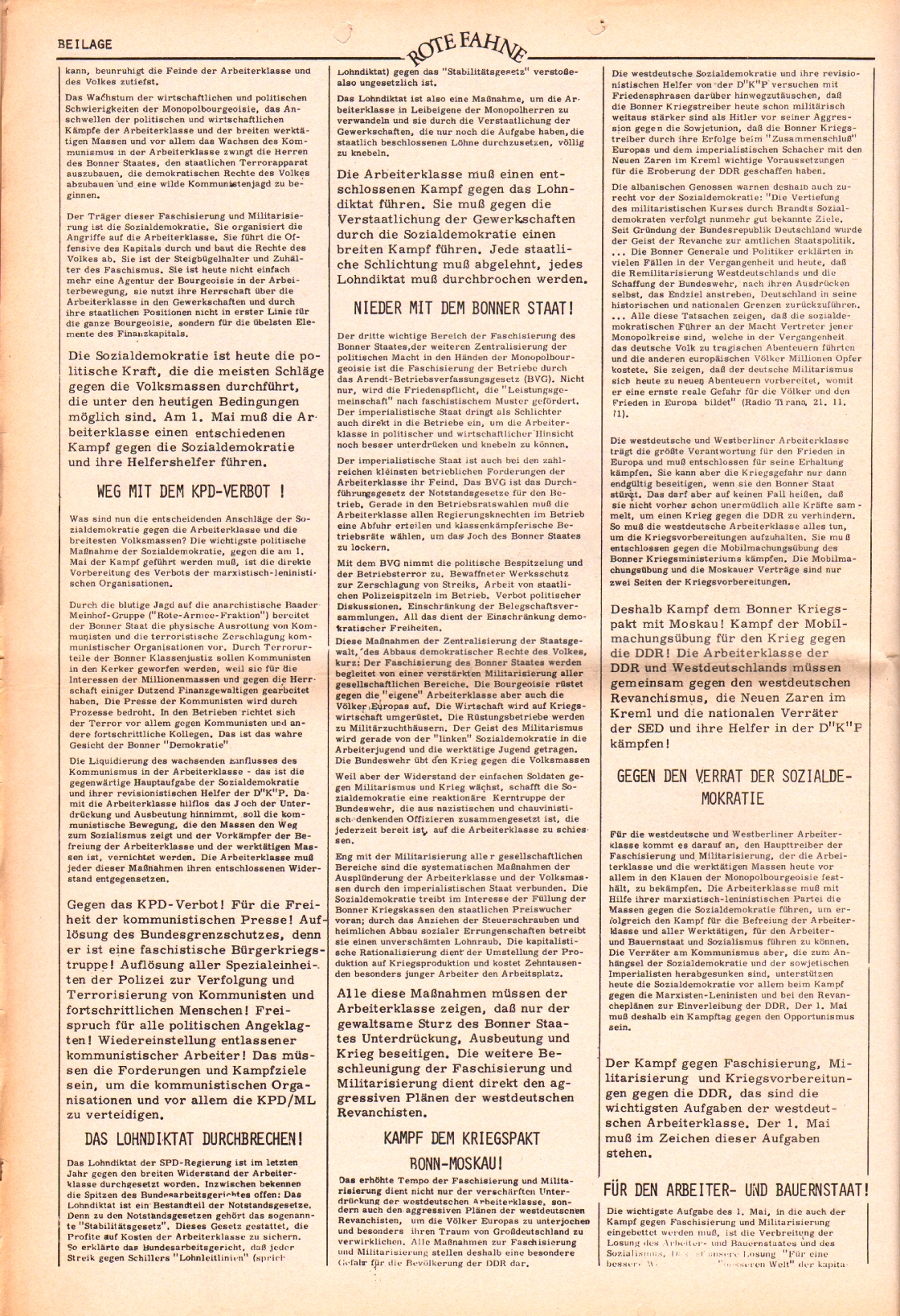 Rote Fahne, 3. Jg., 20.3.1972, Nr. 6, Beilage, Seite 2