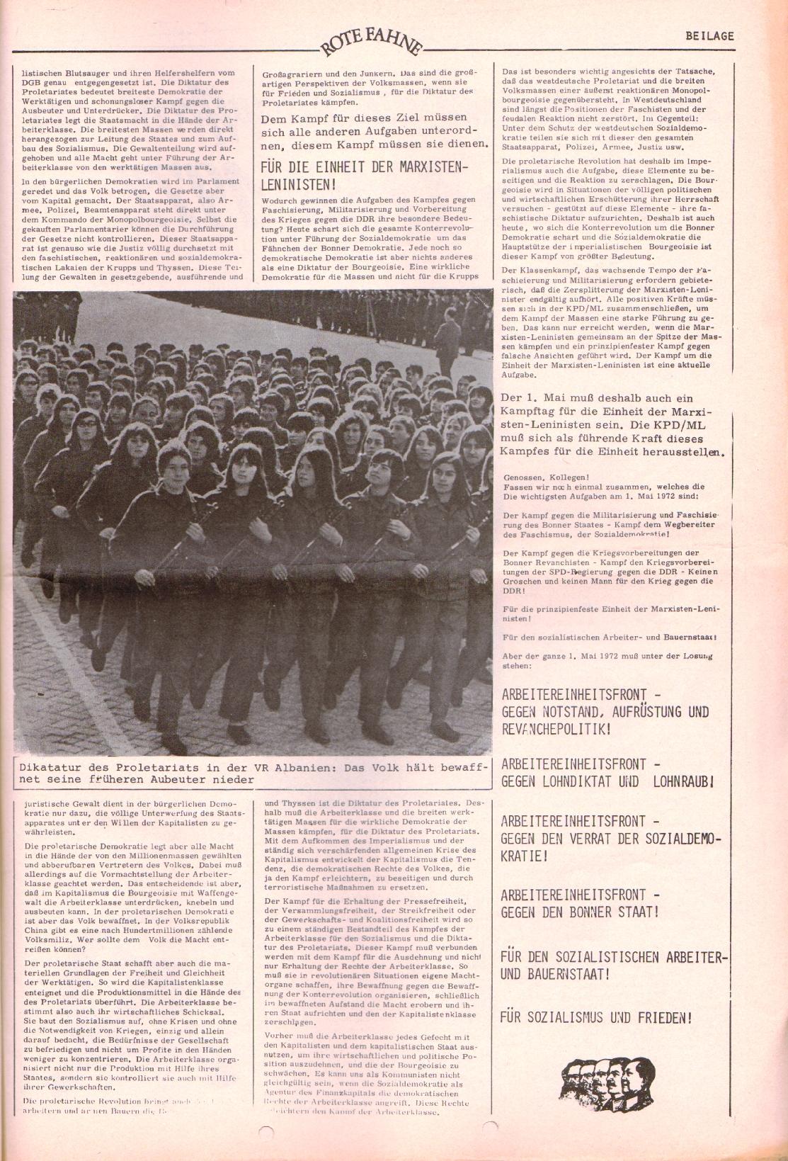 Rote Fahne, 3. Jg., 20.3.1972, Nr. 6, Beilage, Seite 3