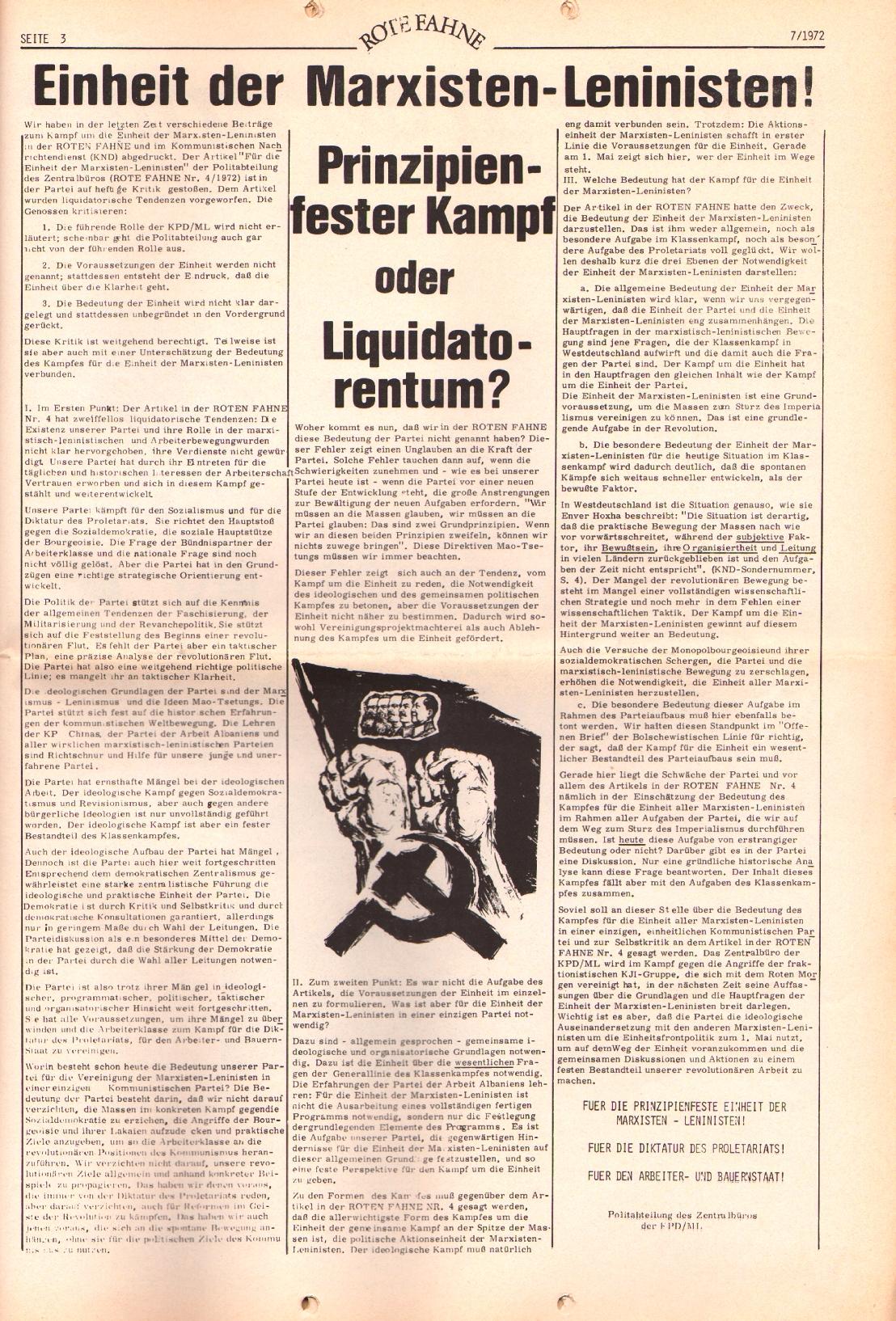 Rote Fahne, 3. Jg., 3.4.1972, Nr. 7, Seite 3