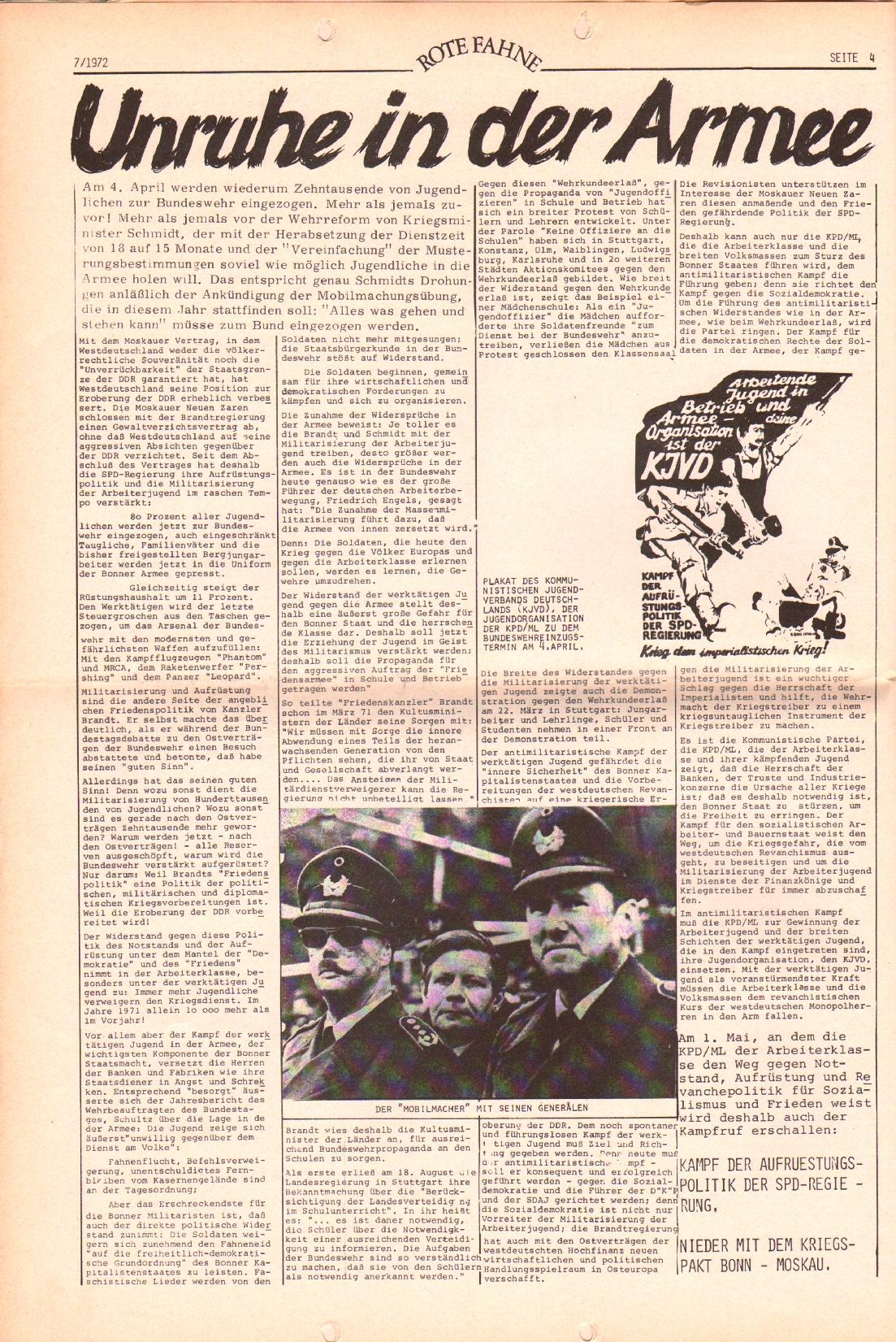 Rote Fahne, 3. Jg., 3.4.1972, Nr. 7, Seite 4