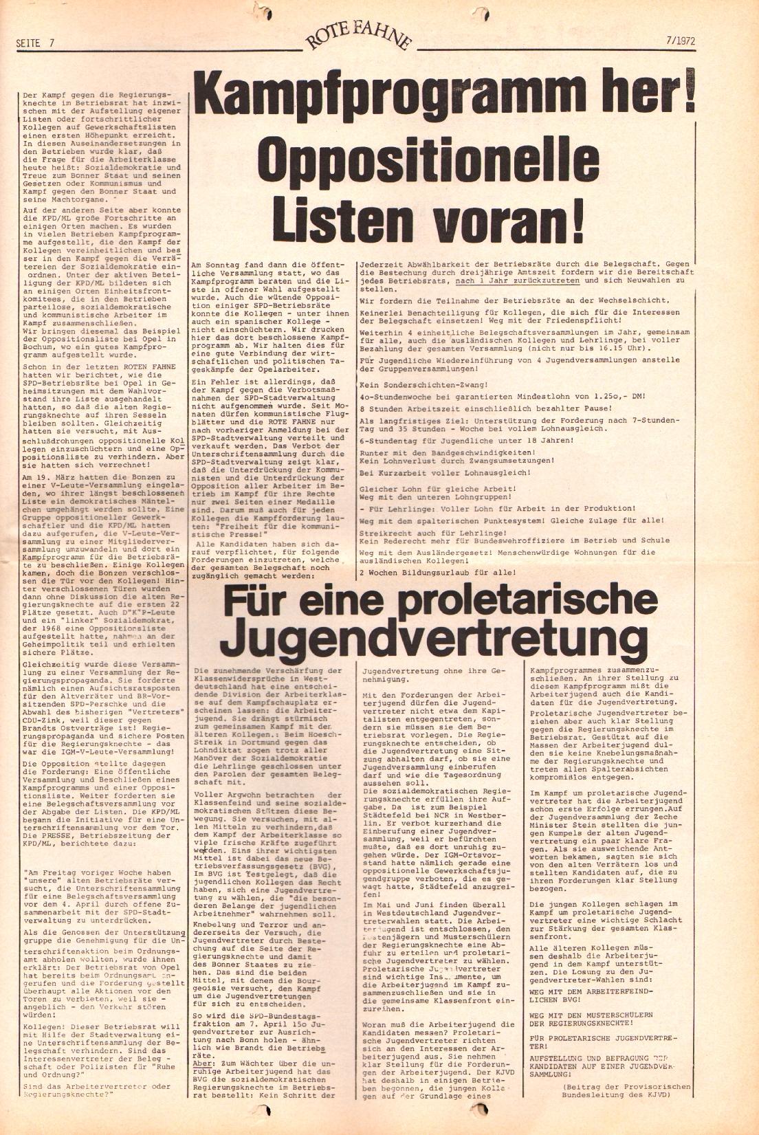 Rote Fahne, 3. Jg., 3.4.1972, Nr. 7, Seite 7