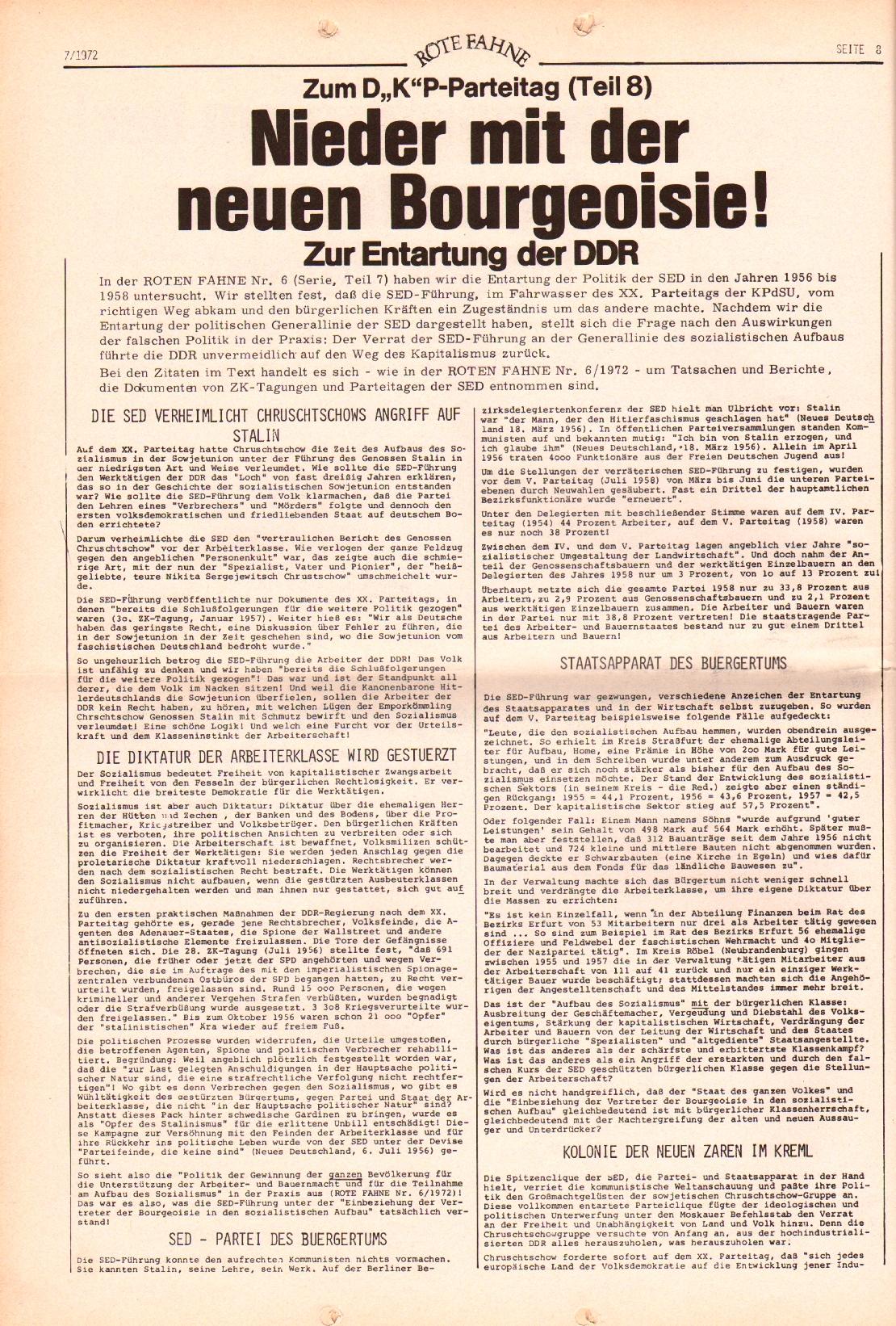 Rote Fahne, 3. Jg., 3.4.1972, Nr. 7, Seite 8