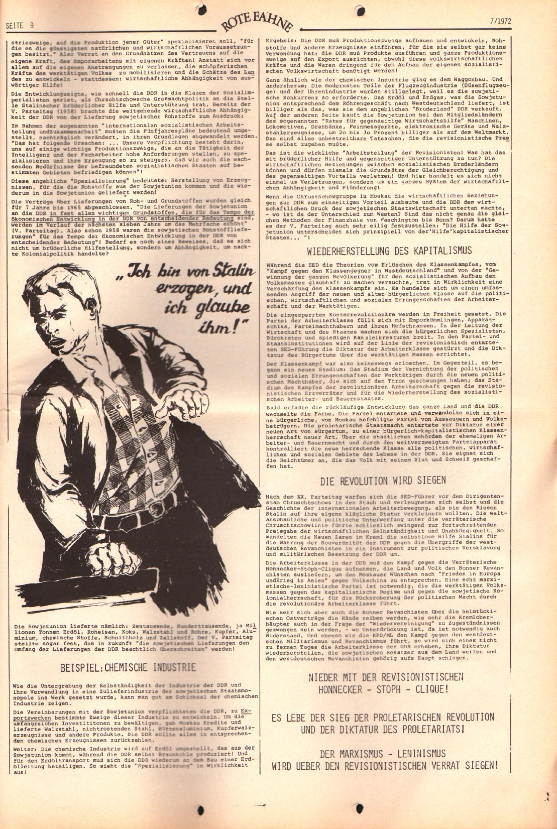 Rote Fahne, 3. Jg., 3.4.1972, Nr. 7, Seite 9