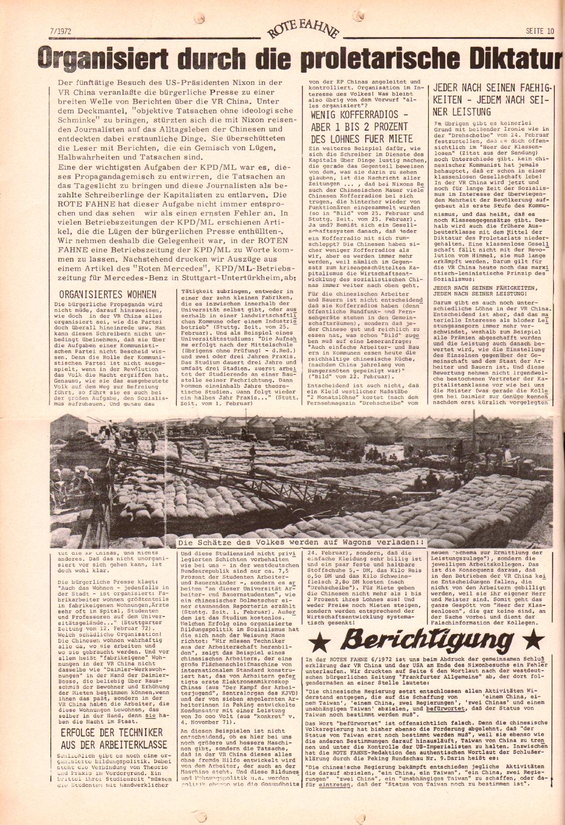 Rote Fahne, 3. Jg., 3.4.1972, Nr. 7, Seite 10