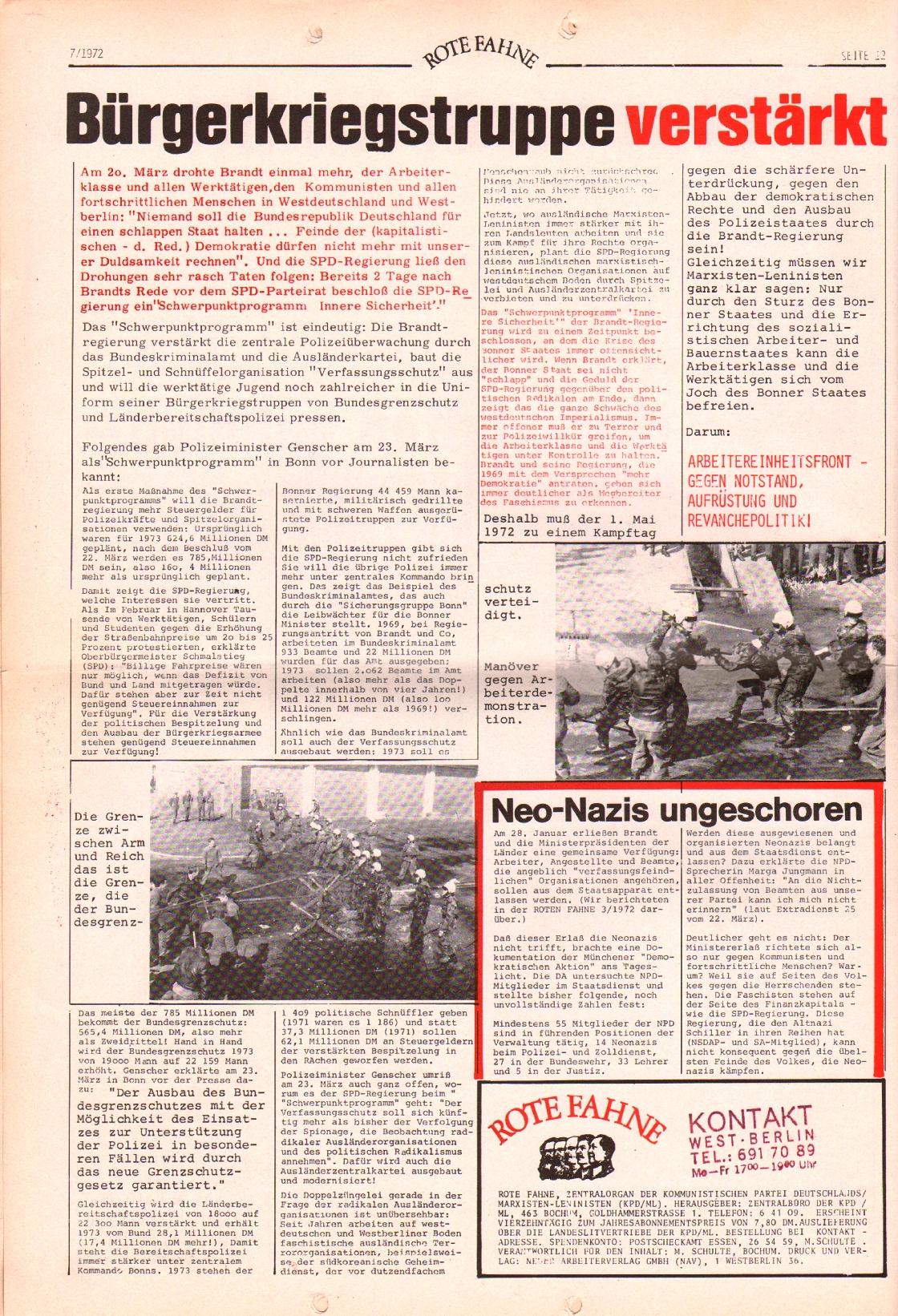 Rote Fahne, 3. Jg., 3.4.1972, Nr. 7, Seite 12
