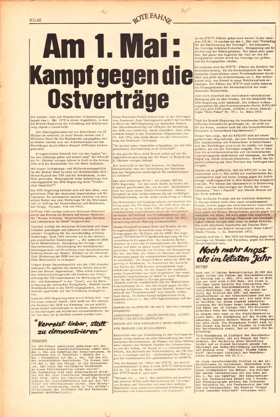 Rote Fahne, 3. Jg., 3.4.1972, Nr. 7, Beilage, Seite 2