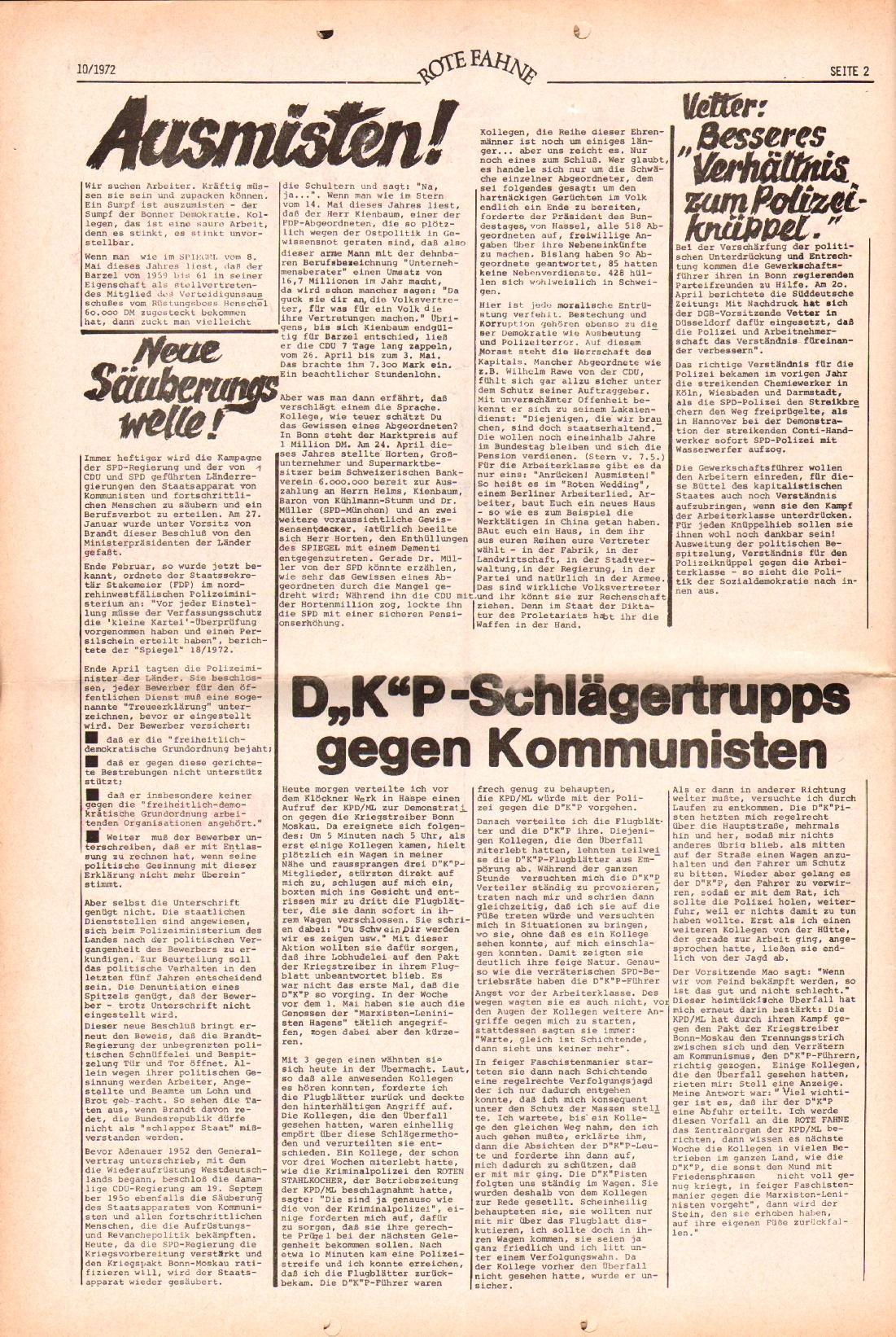 Rote Fahne, 3. Jg., 15.5.1972, Nr. 10, Seite 2