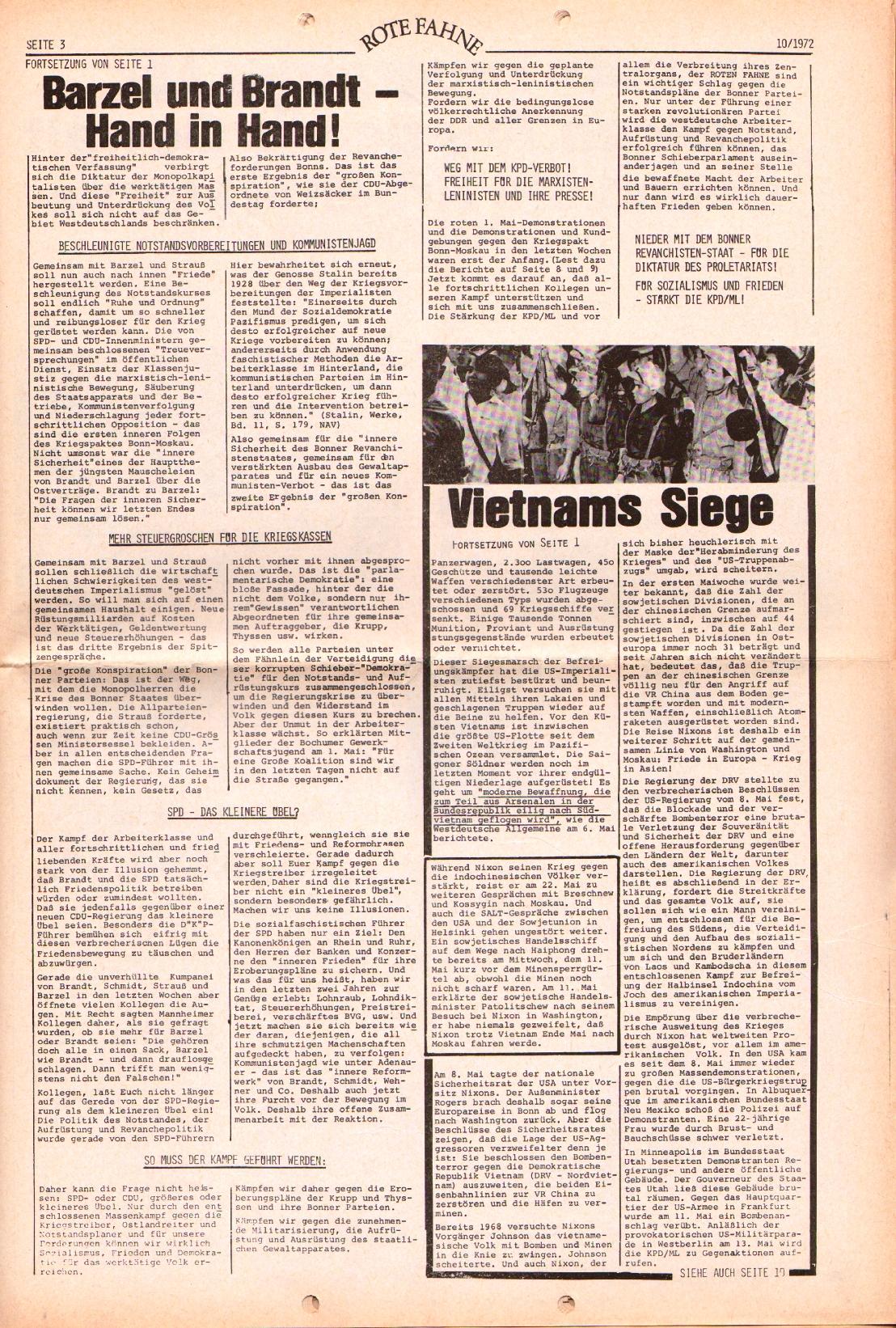 Rote Fahne, 3. Jg., 15.5.1972, Nr. 10, Seite 3