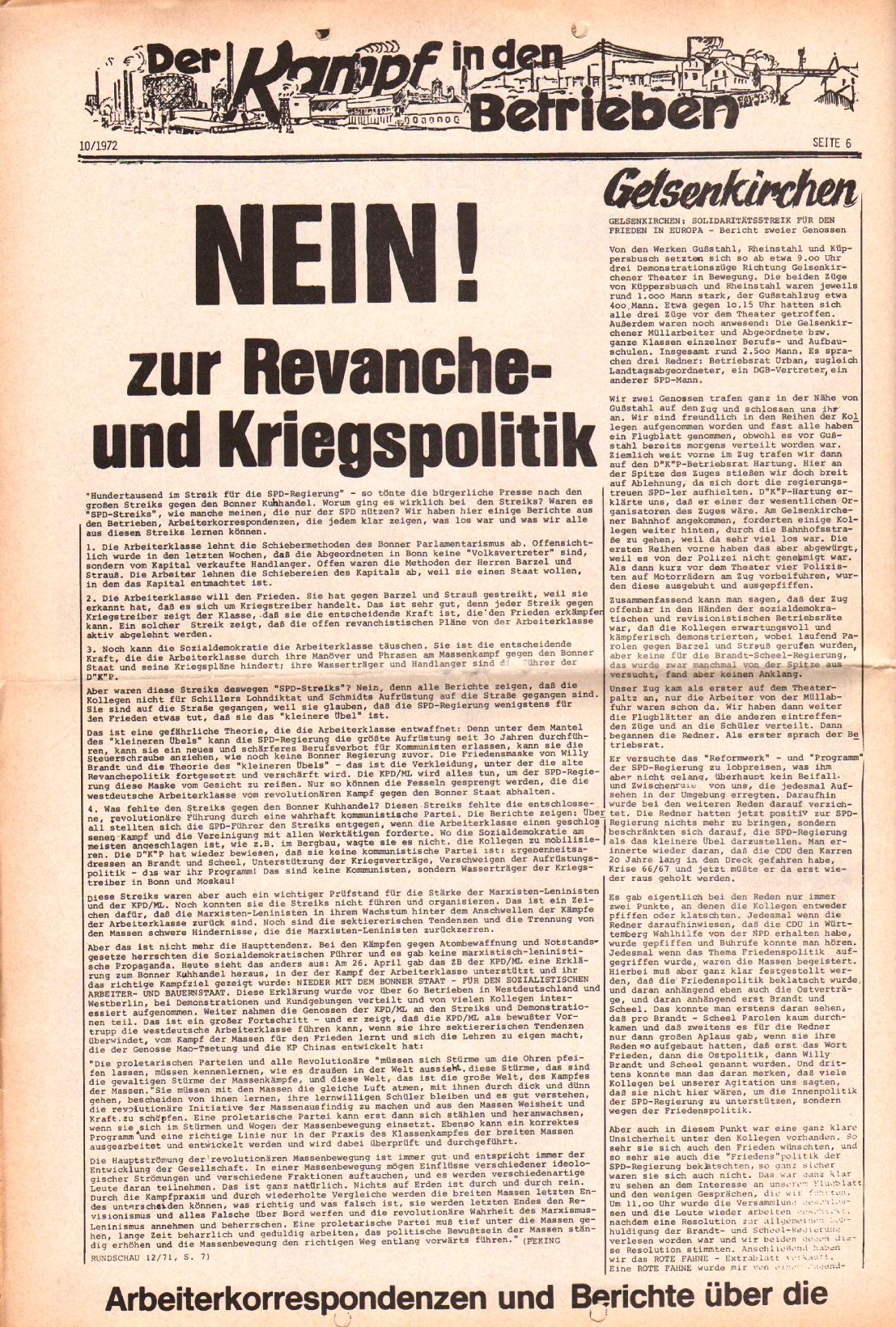Rote Fahne, 3. Jg., 15.5.1972, Nr. 10, Seite 6