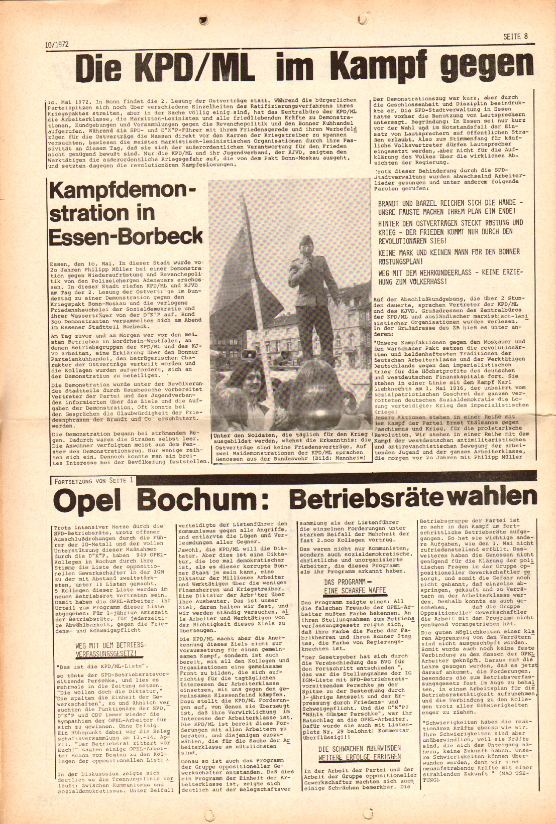 Rote Fahne, 3. Jg., 15.5.1972, Nr. 10, Seite 8
