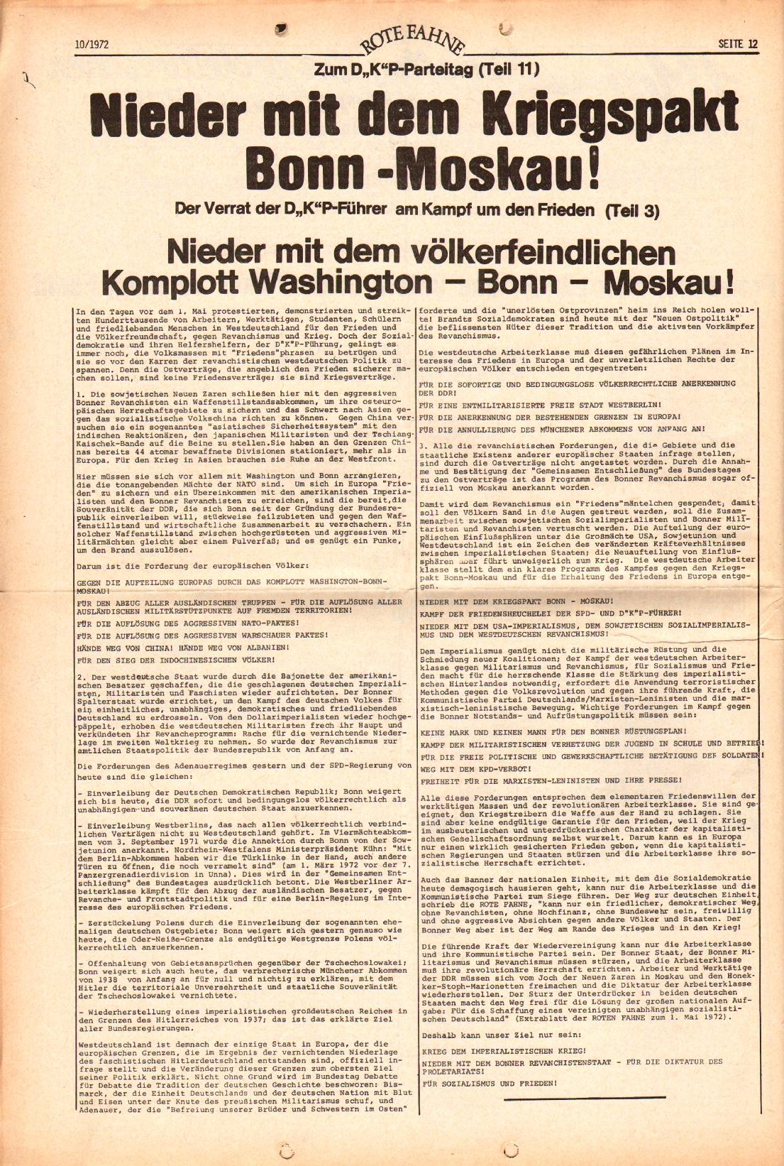 Rote Fahne, 3. Jg., 15.5.1972, Nr. 10, Seite 12