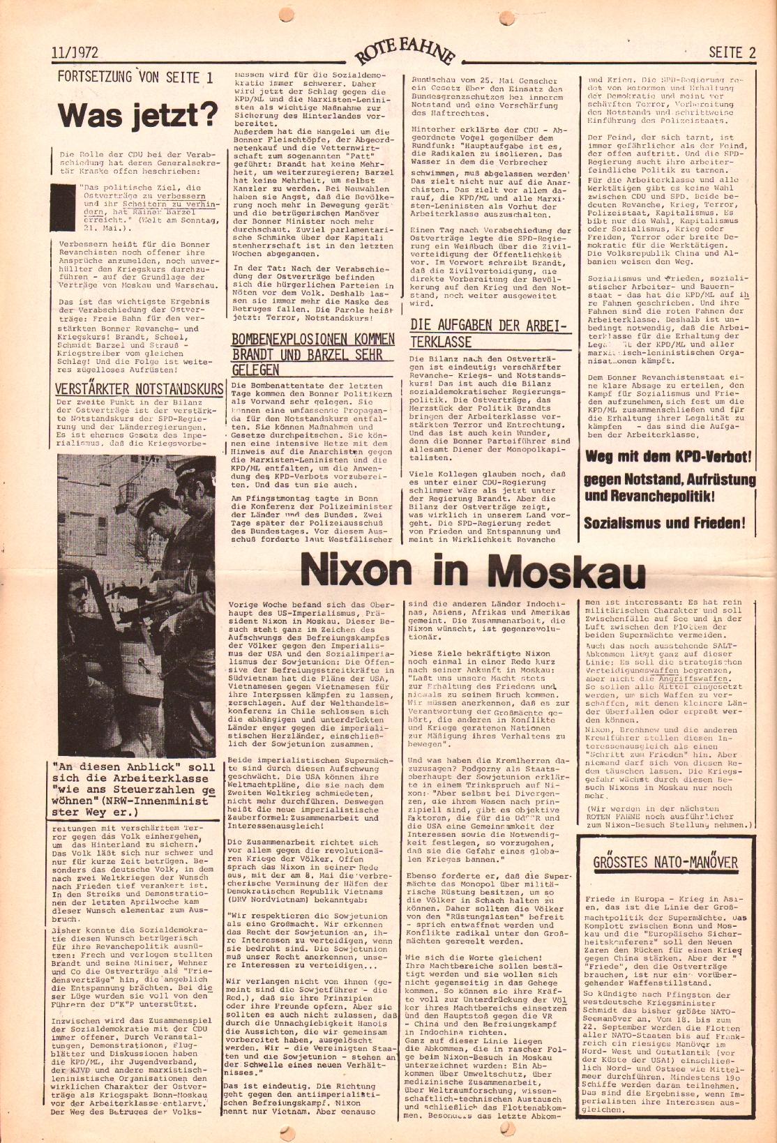 Rote Fahne, 3. Jg., 29.5.1972, Nr. 11, Seite 2
