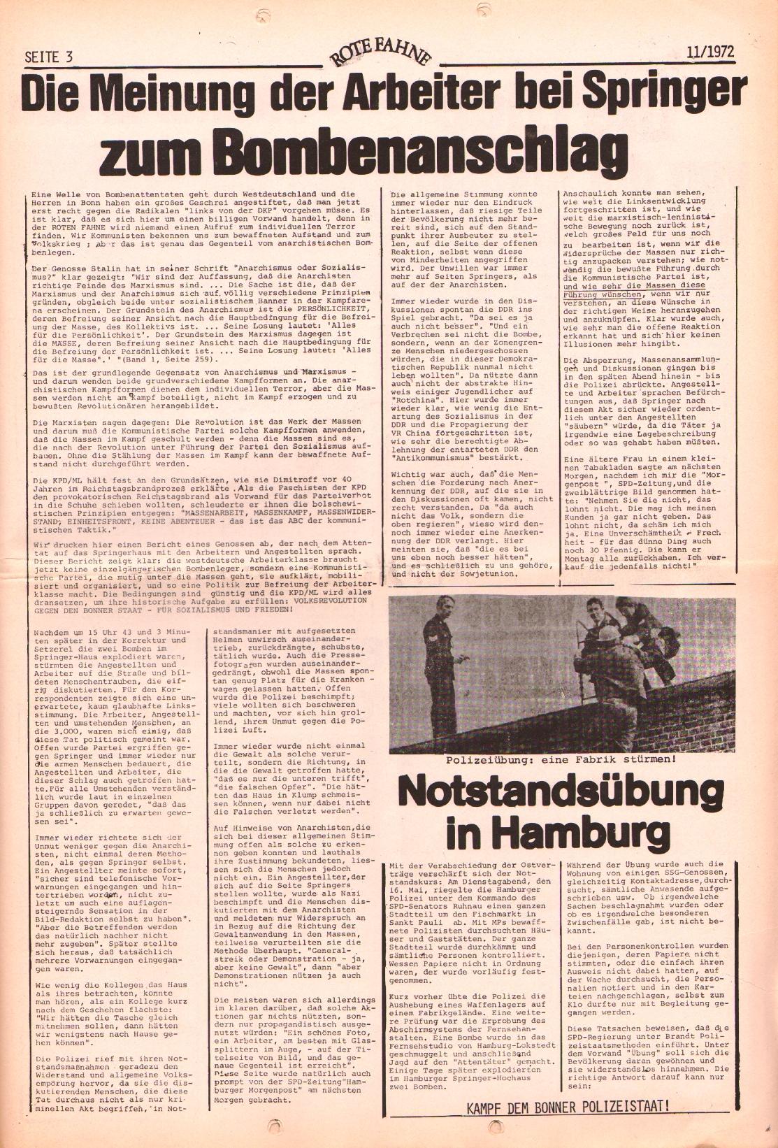 Rote Fahne, 3. Jg., 29.5.1972, Nr. 11, Seite 3