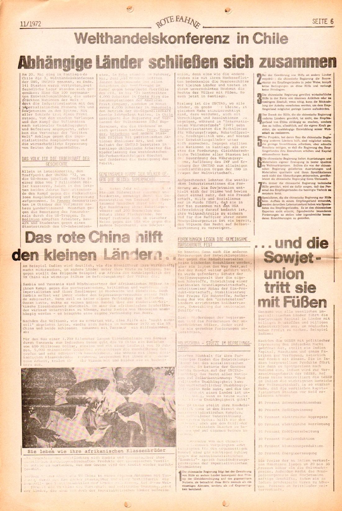 Rote Fahne, 3. Jg., 29.5.1972, Nr. 11, Seite 6