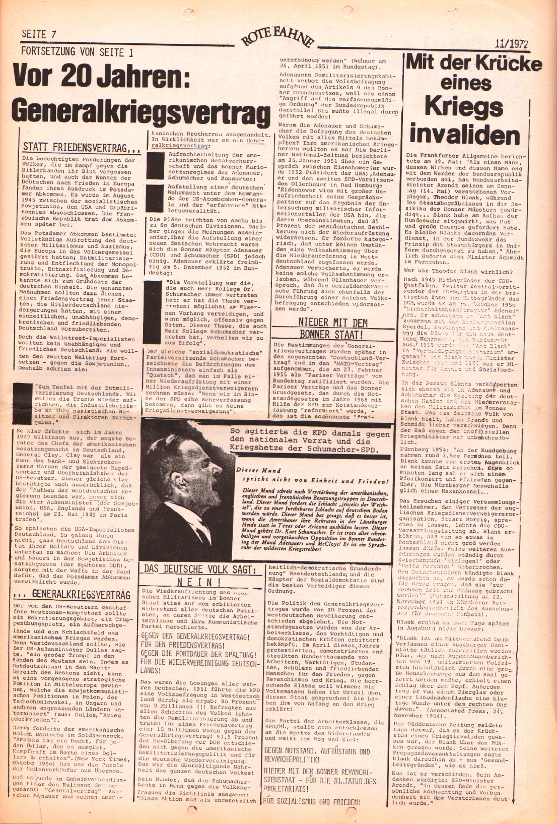 Rote Fahne, 3. Jg., 29.5.1972, Nr. 11, Seite 7