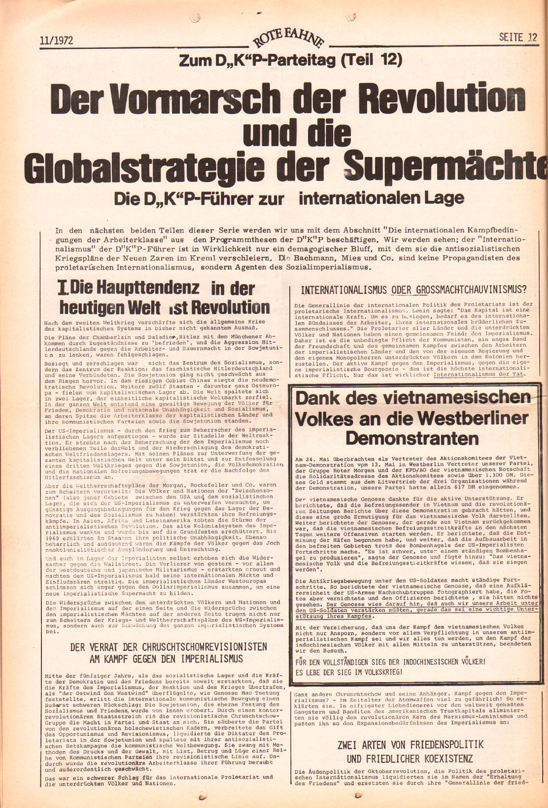 Rote Fahne, 3. Jg., 29.5.1972, Nr. 11, Seite 12