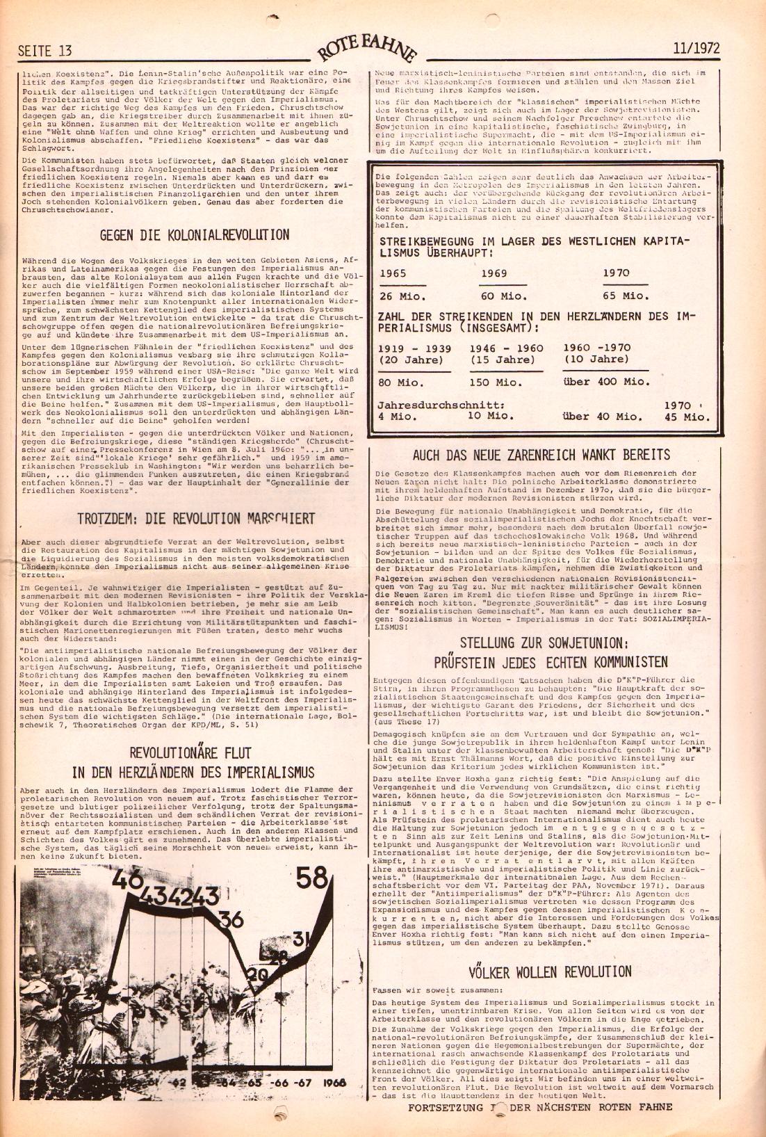 Rote Fahne, 3. Jg., 29.5.1972, Nr. 11, Seite 13
