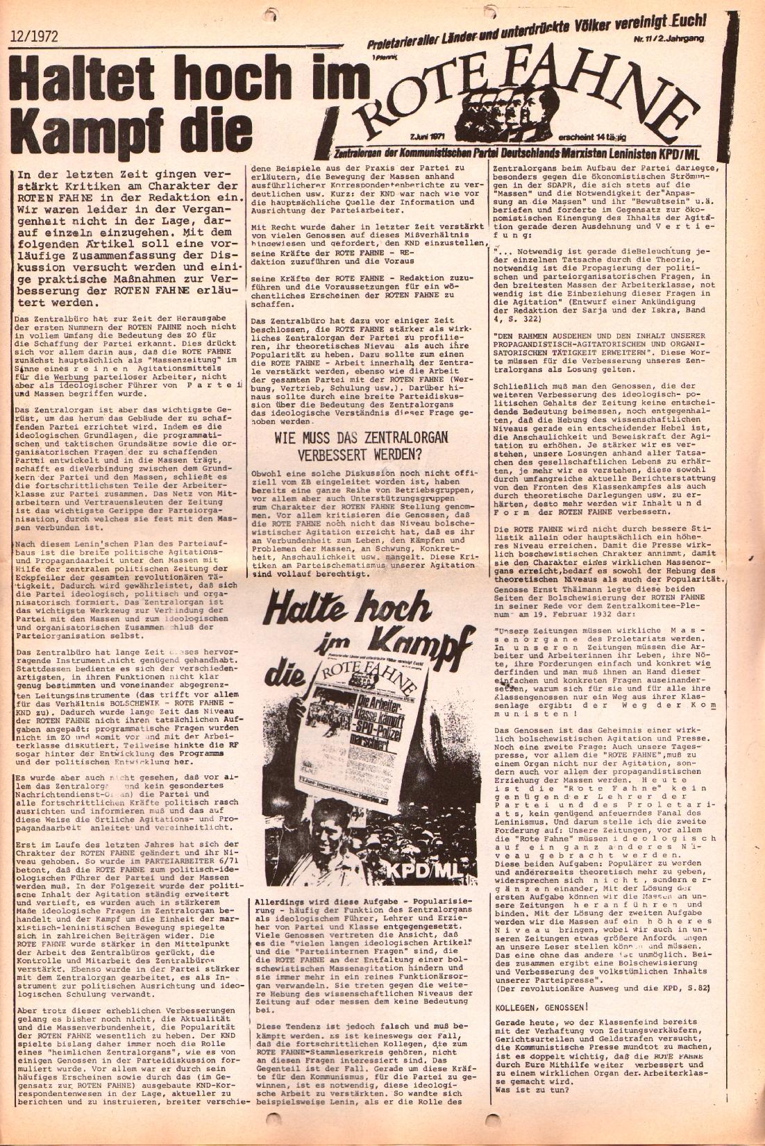 Rote Fahne, 3. Jg., 12.6.1972, Nr. 12, Seite 3